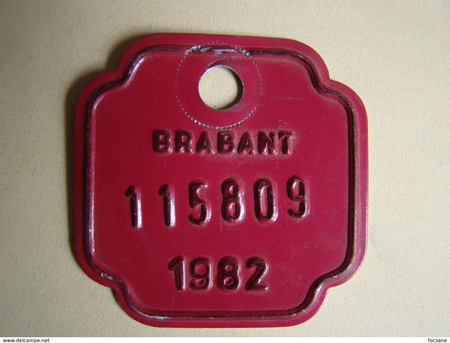 Plaque Vélo Brabant 1982 - Plaques D'immatriculation