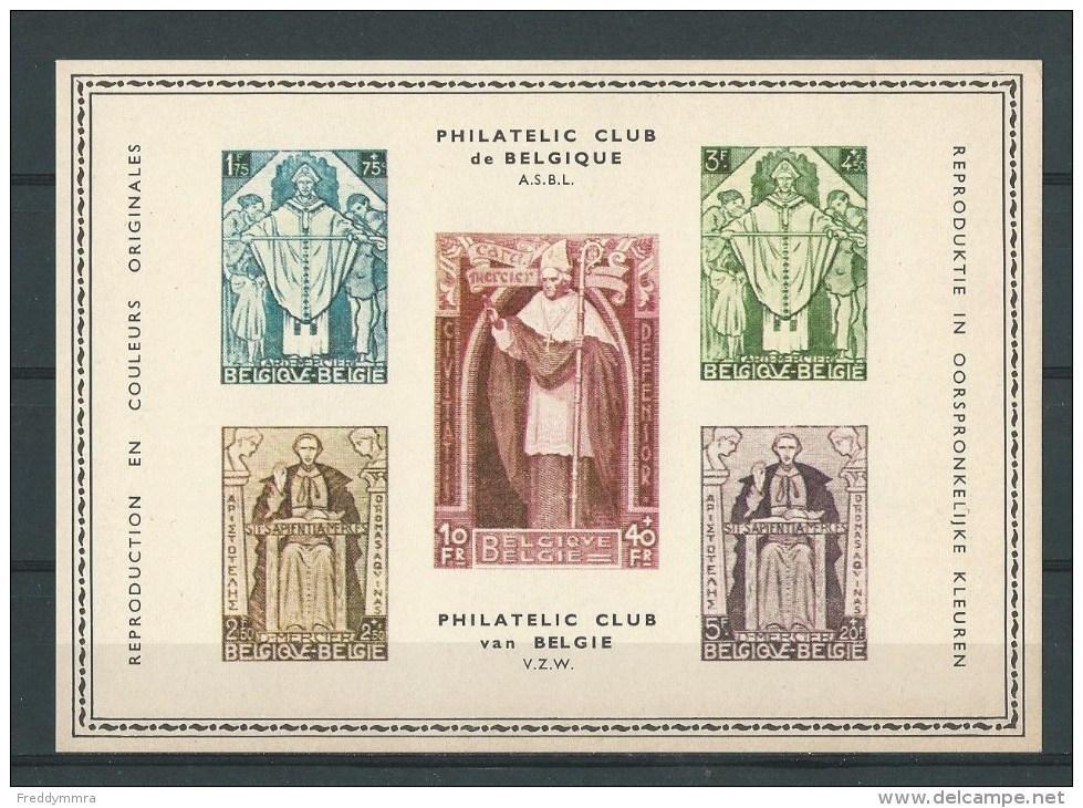Belgique: Carte Souvenir Cardinal Mercier (Philatélic Club De Belgique) - Erinnophilie