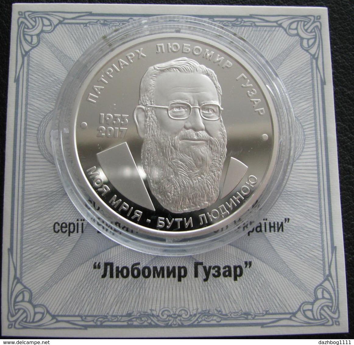 Ukraine Silver Coin  Lubomir Husar Lubomyr Guzar 5 UAH 2018 Proof Rare - Ukraine