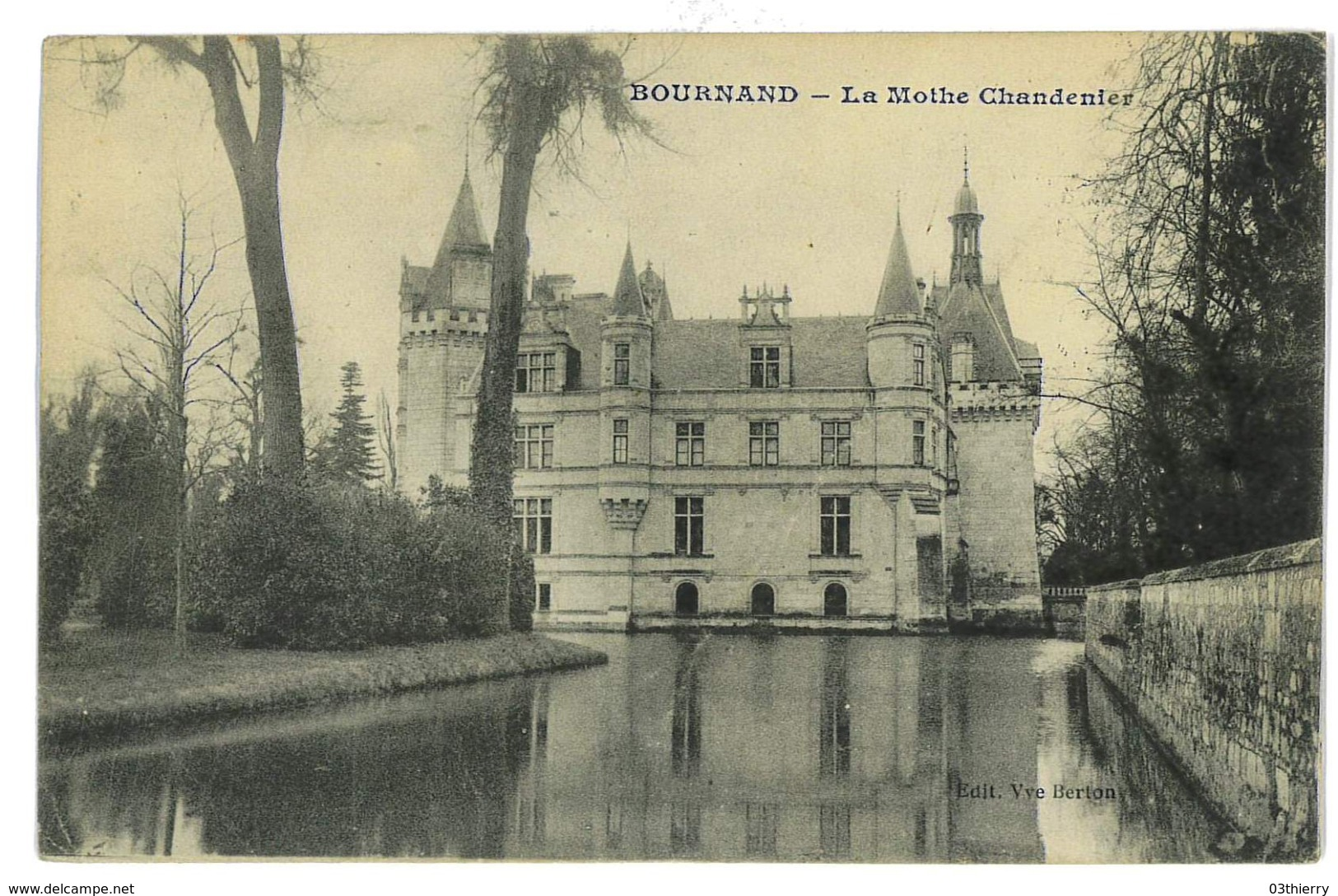 CPA 86 BOURNAND LA MOTHE CHANDENIER - France