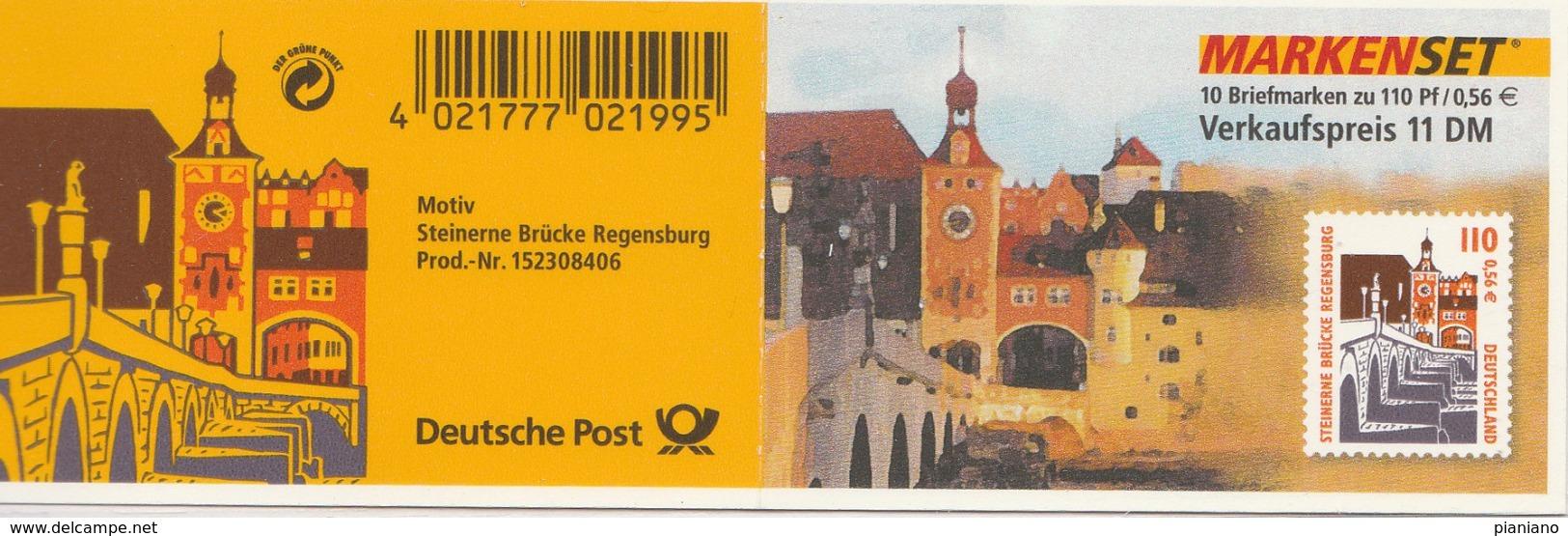 PIA-GER-2000-Libretto Da 11,00 DM - Ponte In Pietra Di Regensburg   - (Yv C 1973b ) - Ponti