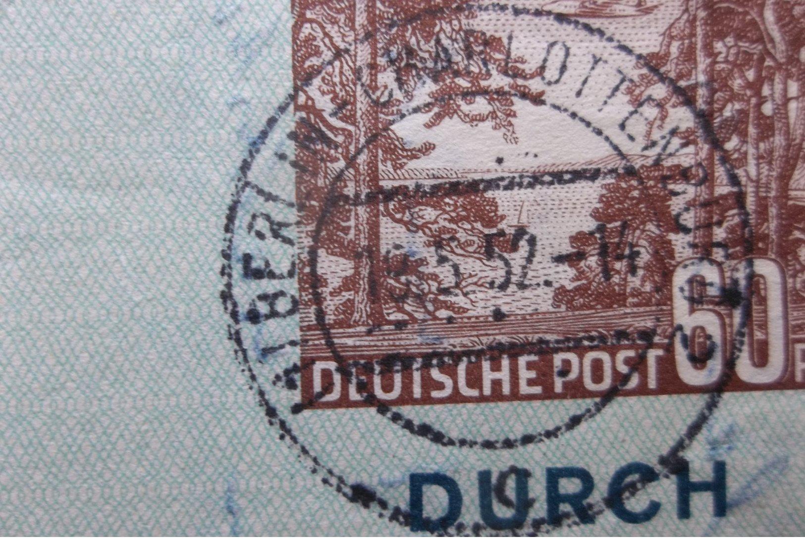 Deutsche Post: 1952 Luftpostbrief To USA (#US5) - [5] Berlin