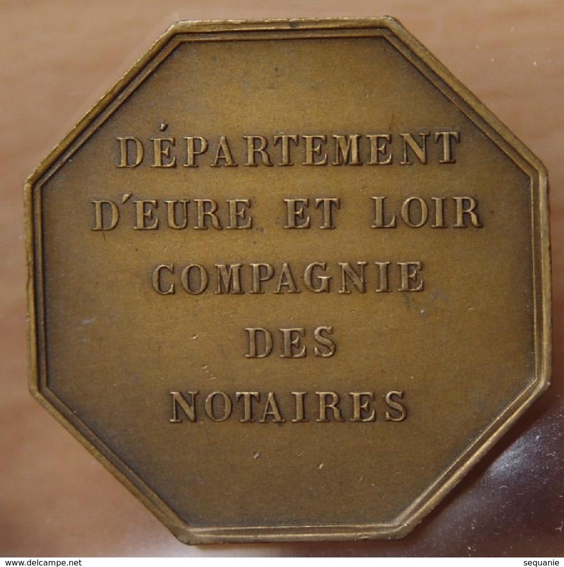 Jeton Compagnie Des Notaires D' Eure Et Loir - Professionnels / De Société