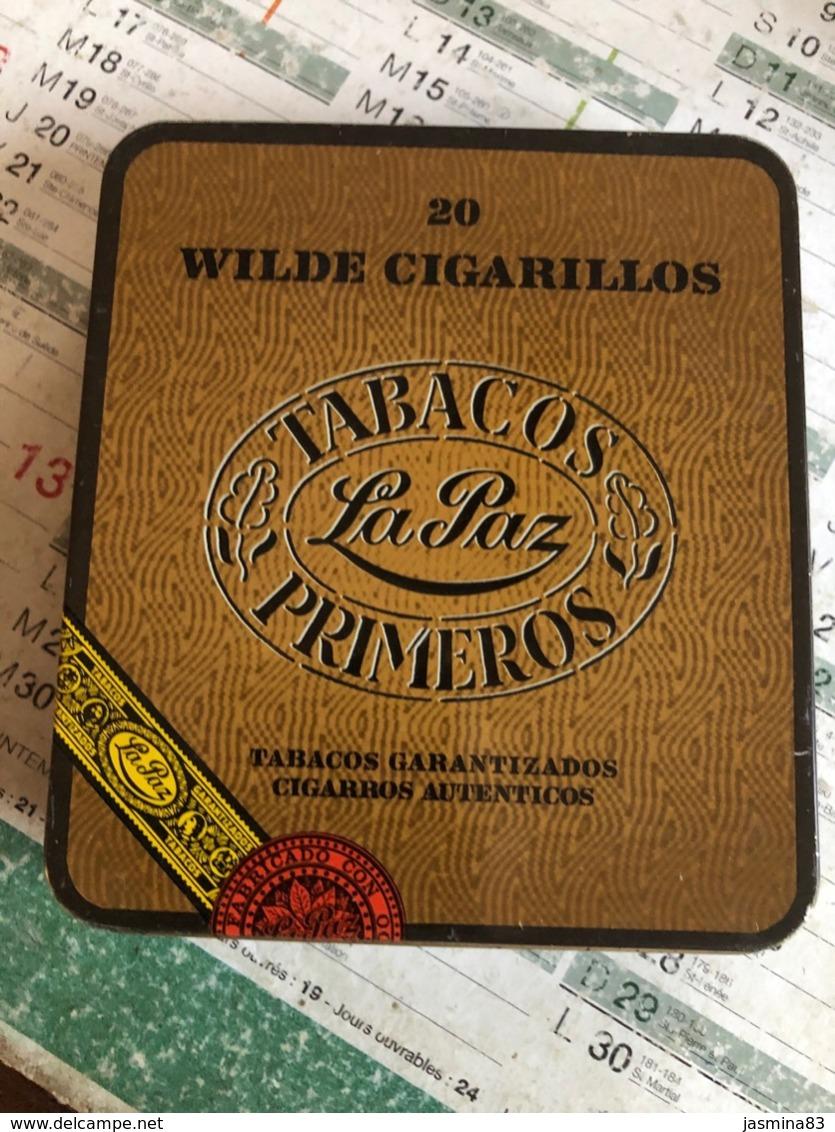 Boîte De Cigare  Wilde Cigarillos  Tabacos La Paz Primeros( Boite En Fer) - Boites à Tabac Vides