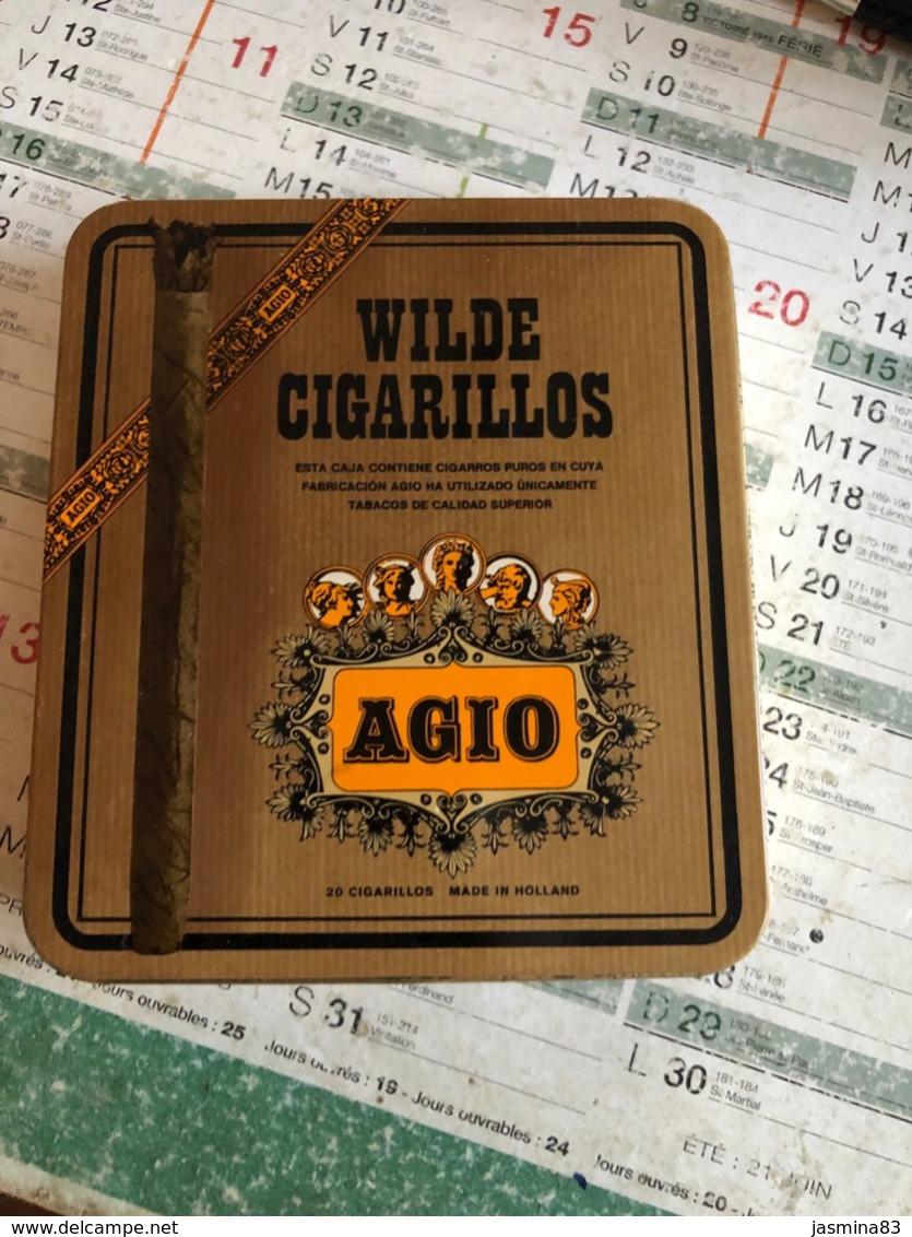 Boîte De Cigare Wilde Cigarillos AGIO  ( Boite En Fer) - Boites à Tabac Vides