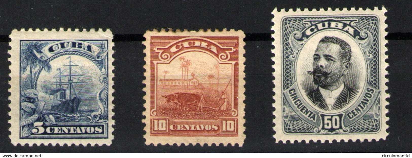 Cuba Nº 150/152. Año 1905 - Kuba