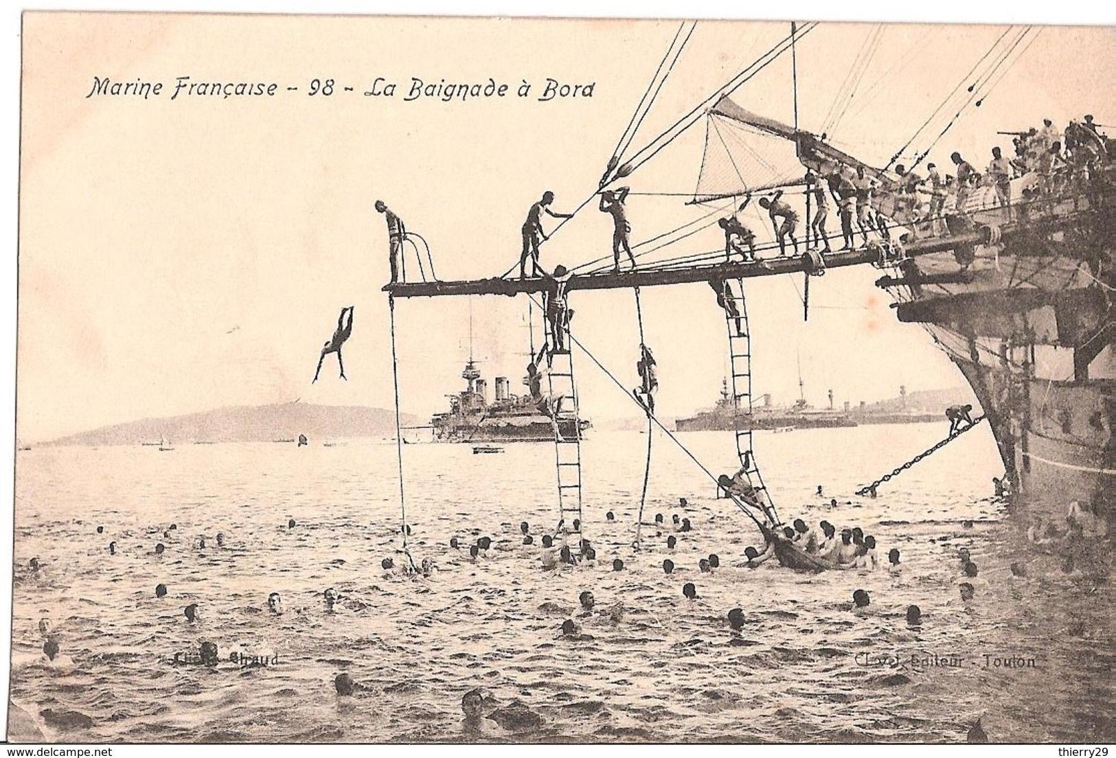 Brest-Toulon-Lorient- Marine Militaire Française -La Baignade à Bord- - Brest