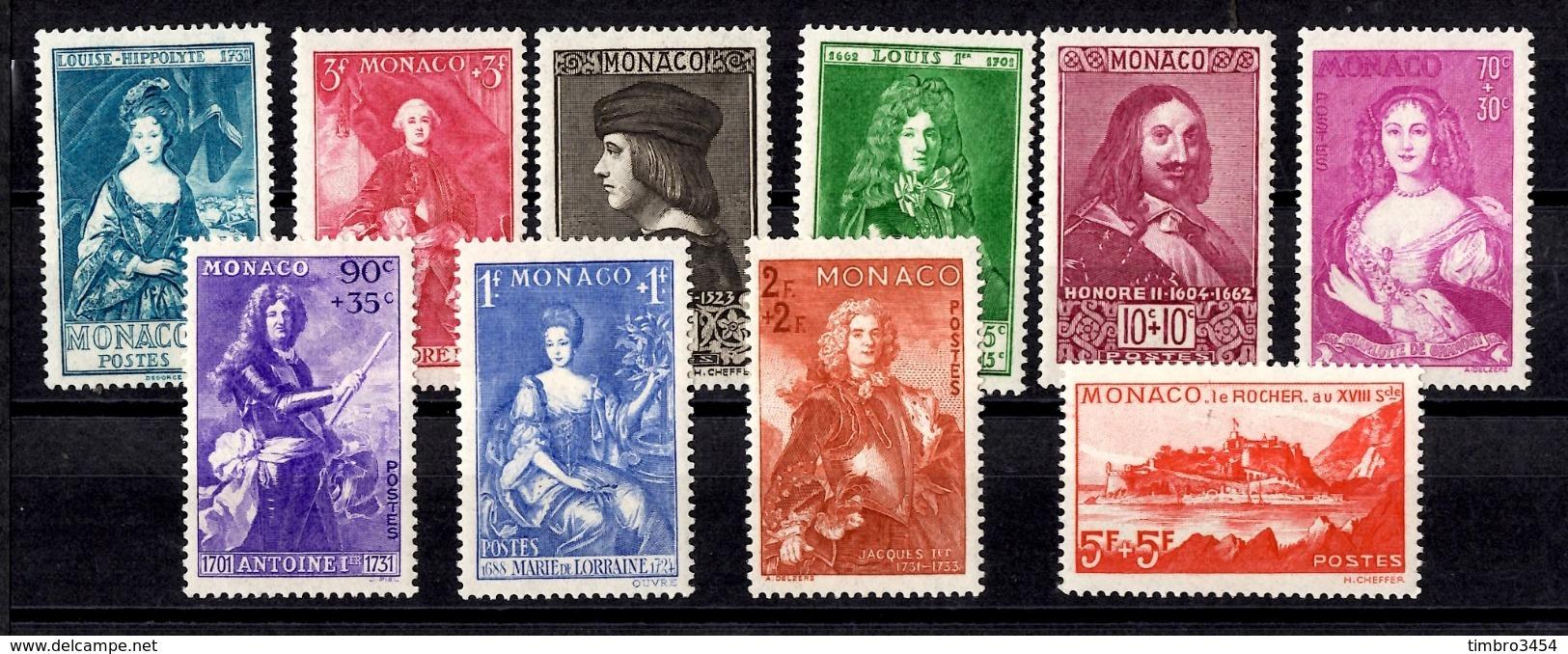 Monaco YT N° 185/194 Neufs *. B/TB. A Saisir! - Unused Stamps