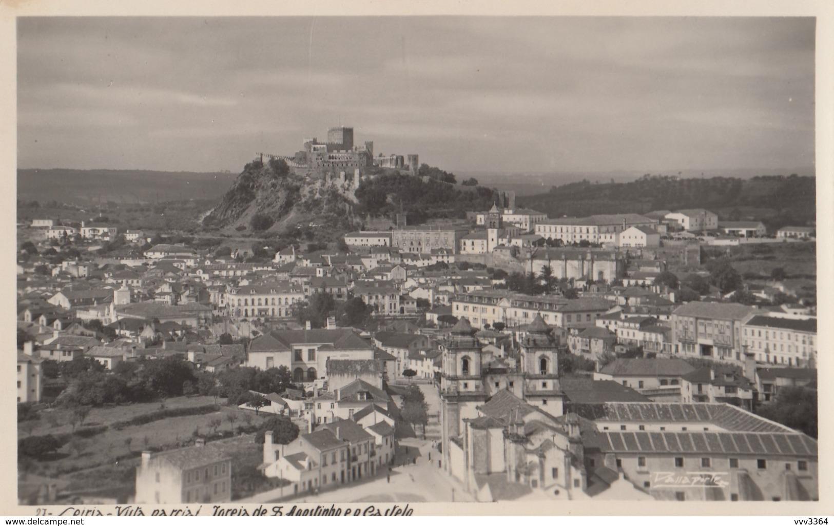 LEIRIA: Vista Parcial - Igreja De S. Agostinho E O Castelo - Leiria