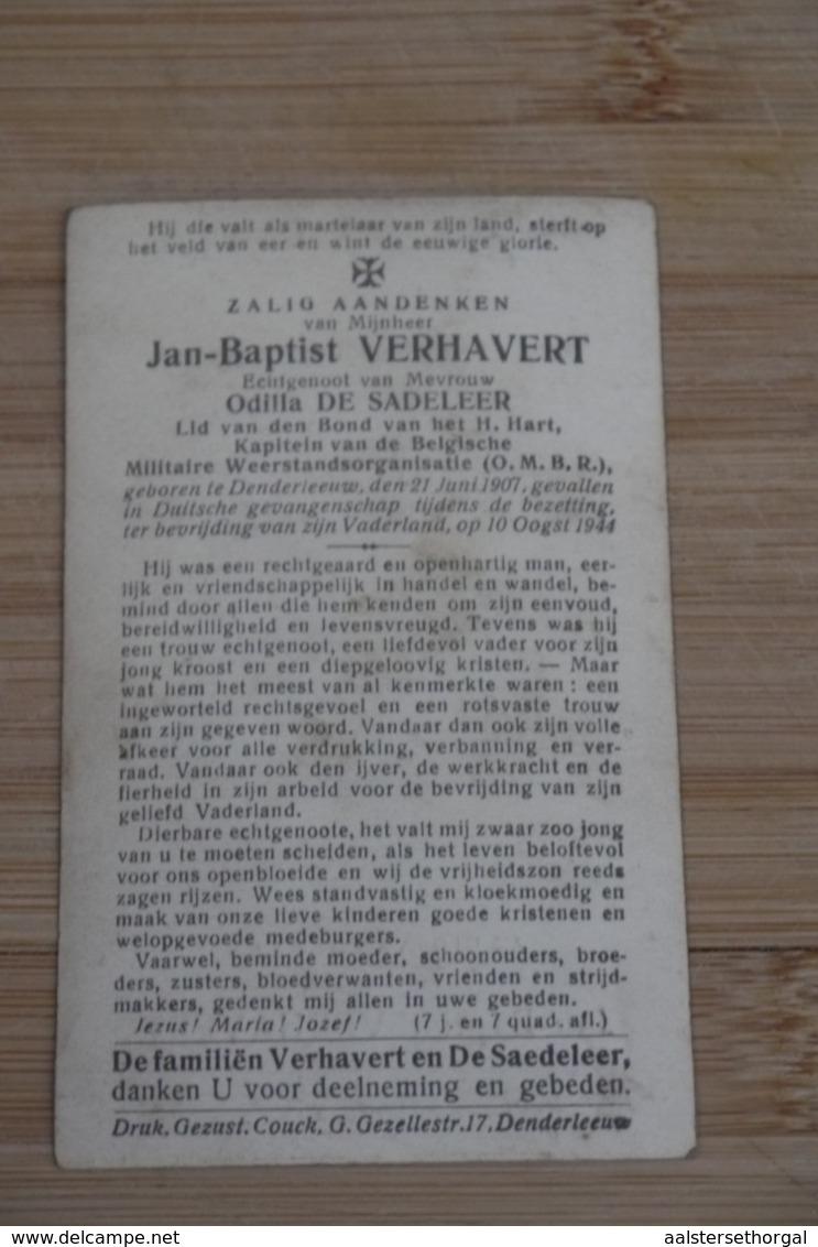 Denderleeuw WO2 Verzet Foto Kapitein OMBR + Duitsland 1944 Verhavert - Religion &  Esoterik