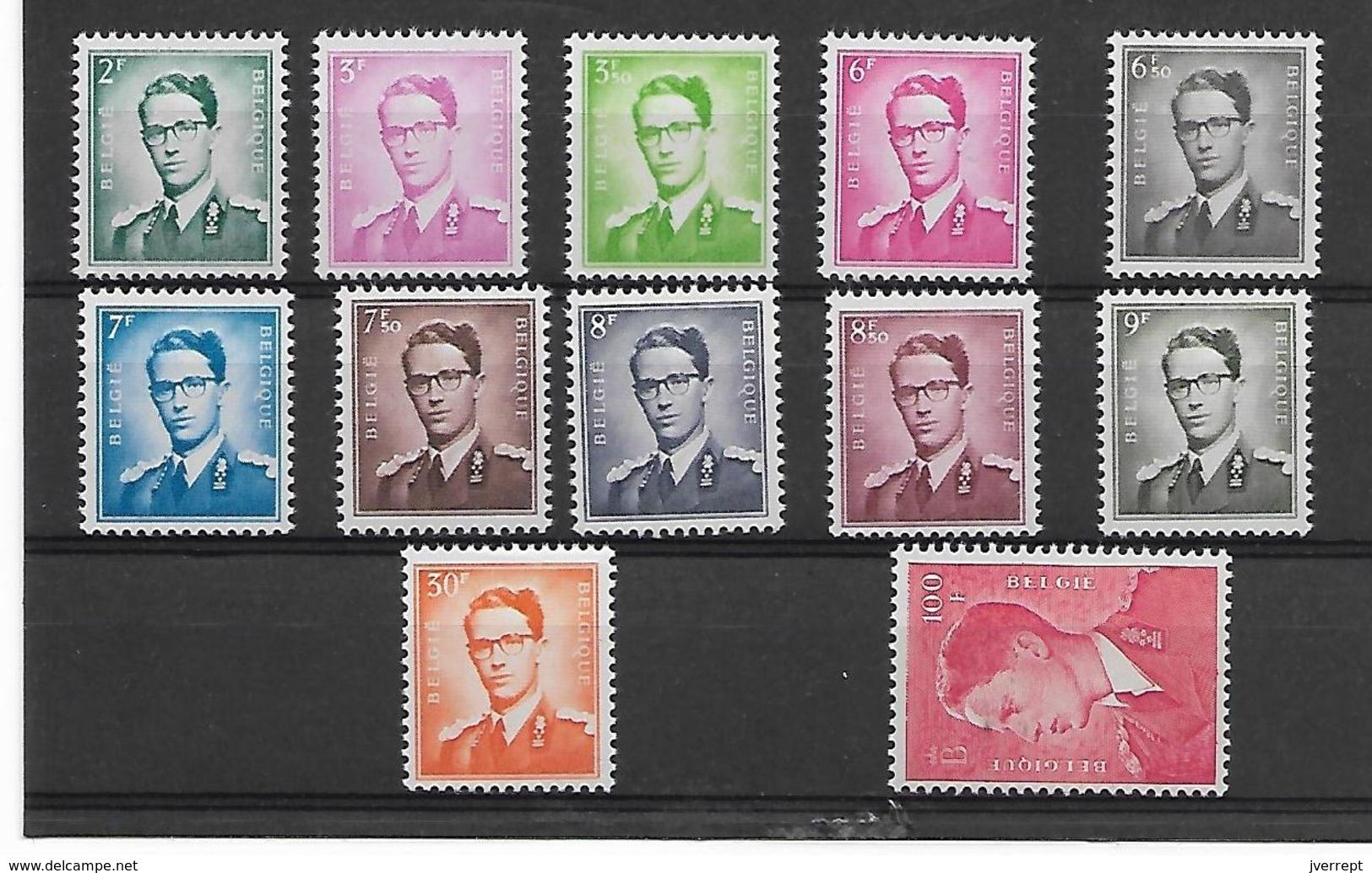 België  N° 1066/1075  Cote 365 Euro  Xx Postfris - 1953-1972 Brillen