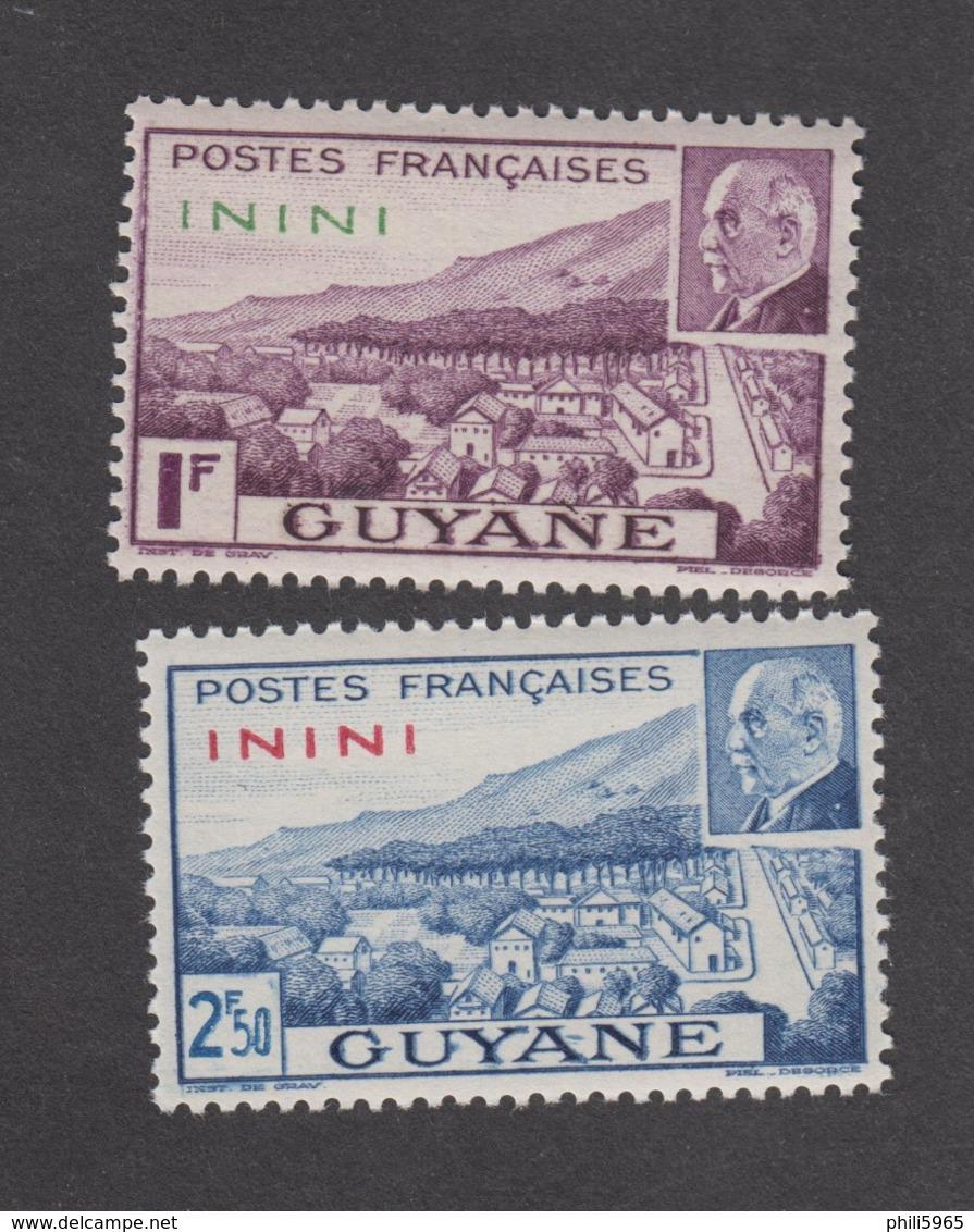Colonies Françaises -Timbres Neufs** - Inini - Pétain - N° 51 Et 52 - Inini (1932-1947)