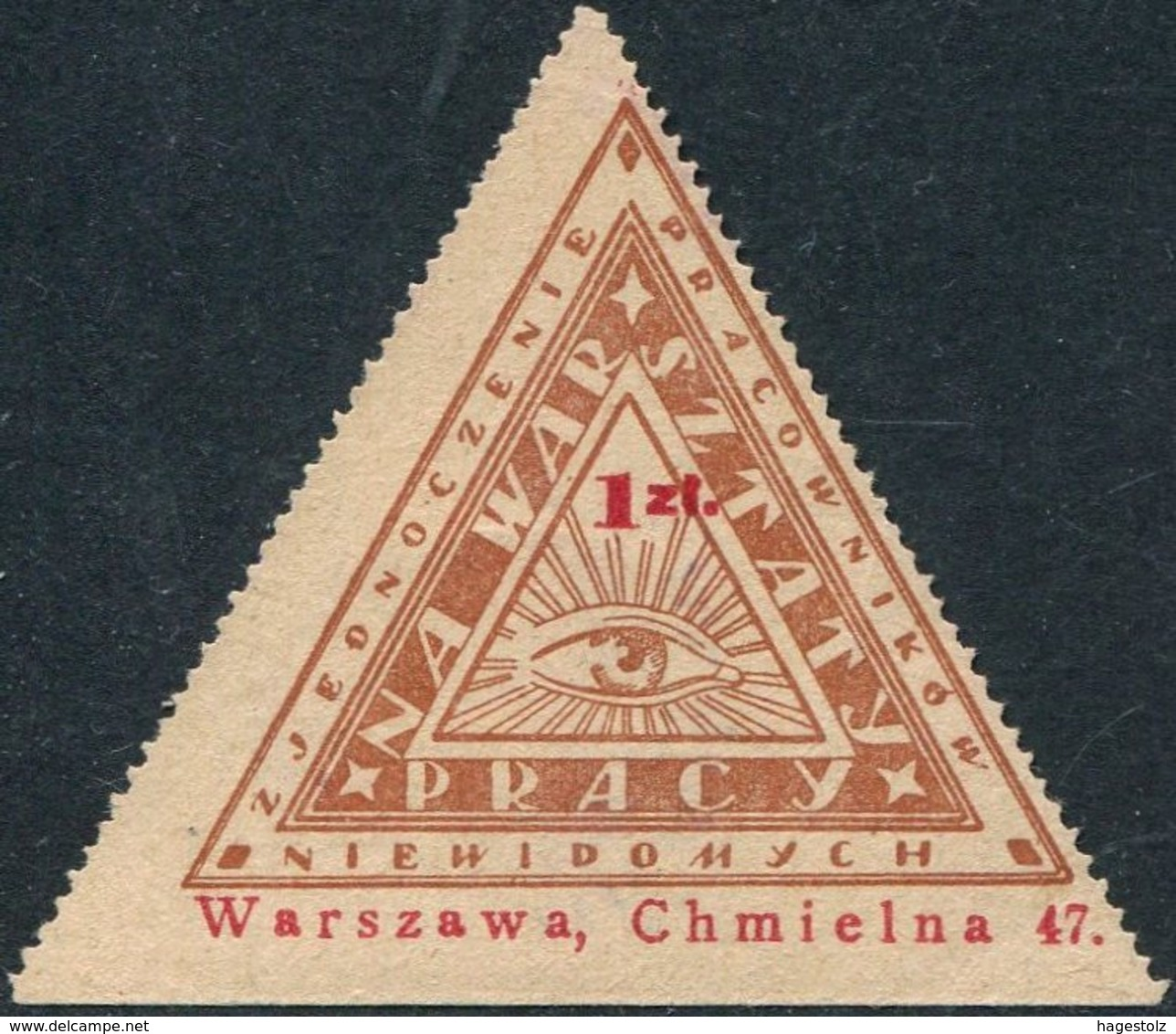 Poland Eye Of Providence 1 Zl. For The Blind Charity Donation Revenue Masonic Symbol All-seeing Eye Of God Polen Pologne - Freemasonry