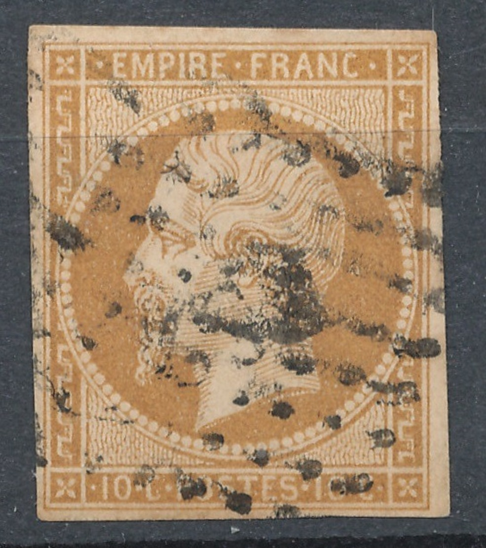 N°13  NUANCE ET OBLITERATION. - 1853-1860 Napoléon III.