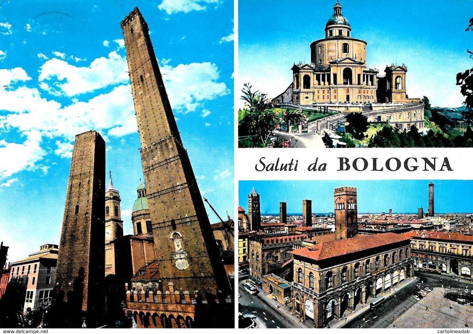 [MD3728] CPM - BOLOGNA  - SALUTI DA BOLOGNA - Viaggiata - Bologna