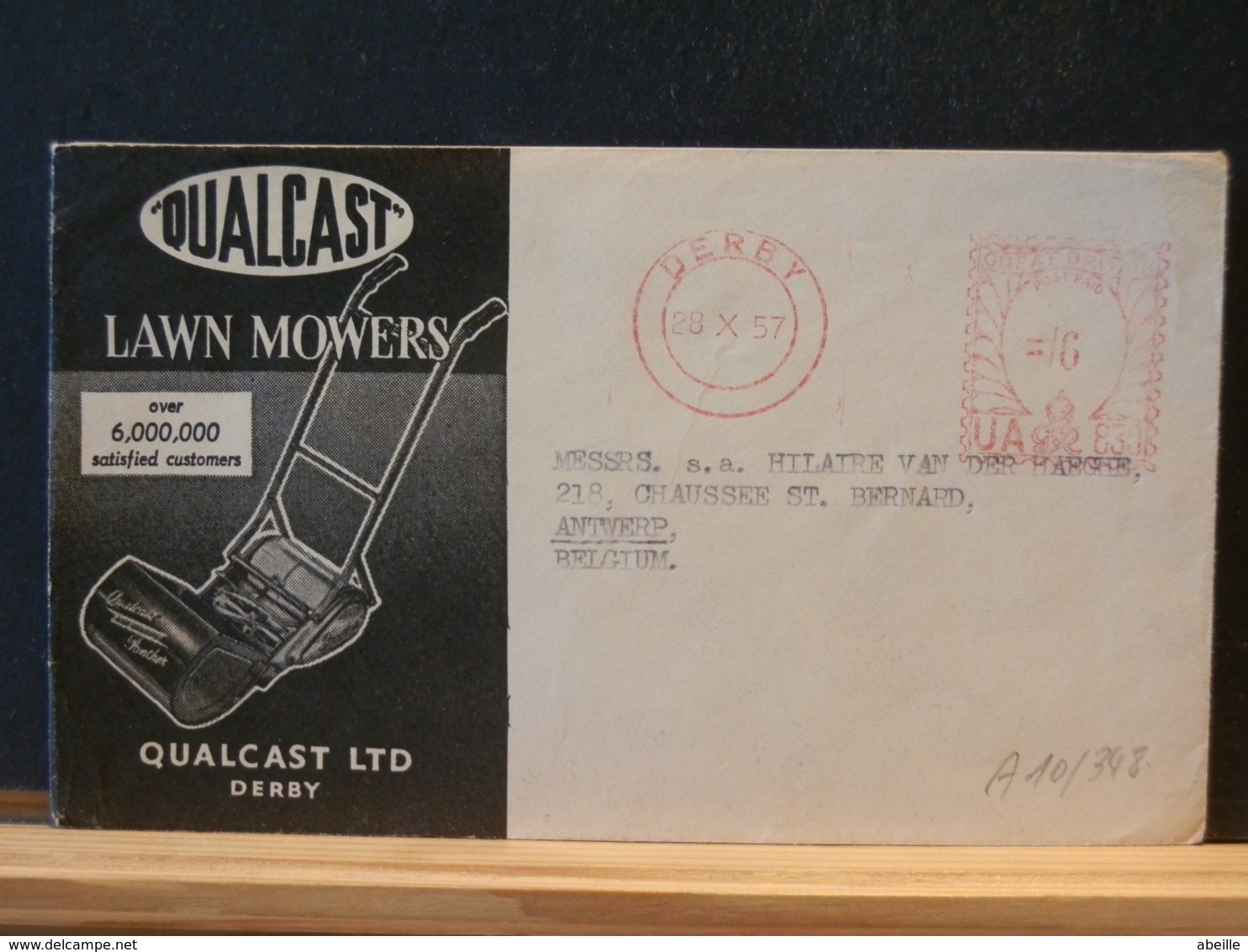 A10/348  LETTER 1957 TO BELG. - Lettres & Documents
