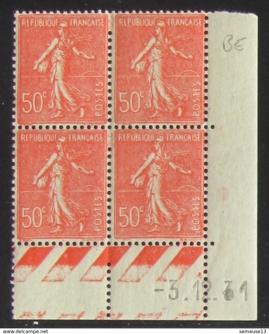 Semeuse 50 C. Rouge 199 En Bloc De 4 Coin Daté - Pas Cher - 1903-60 Semeuse Lignée