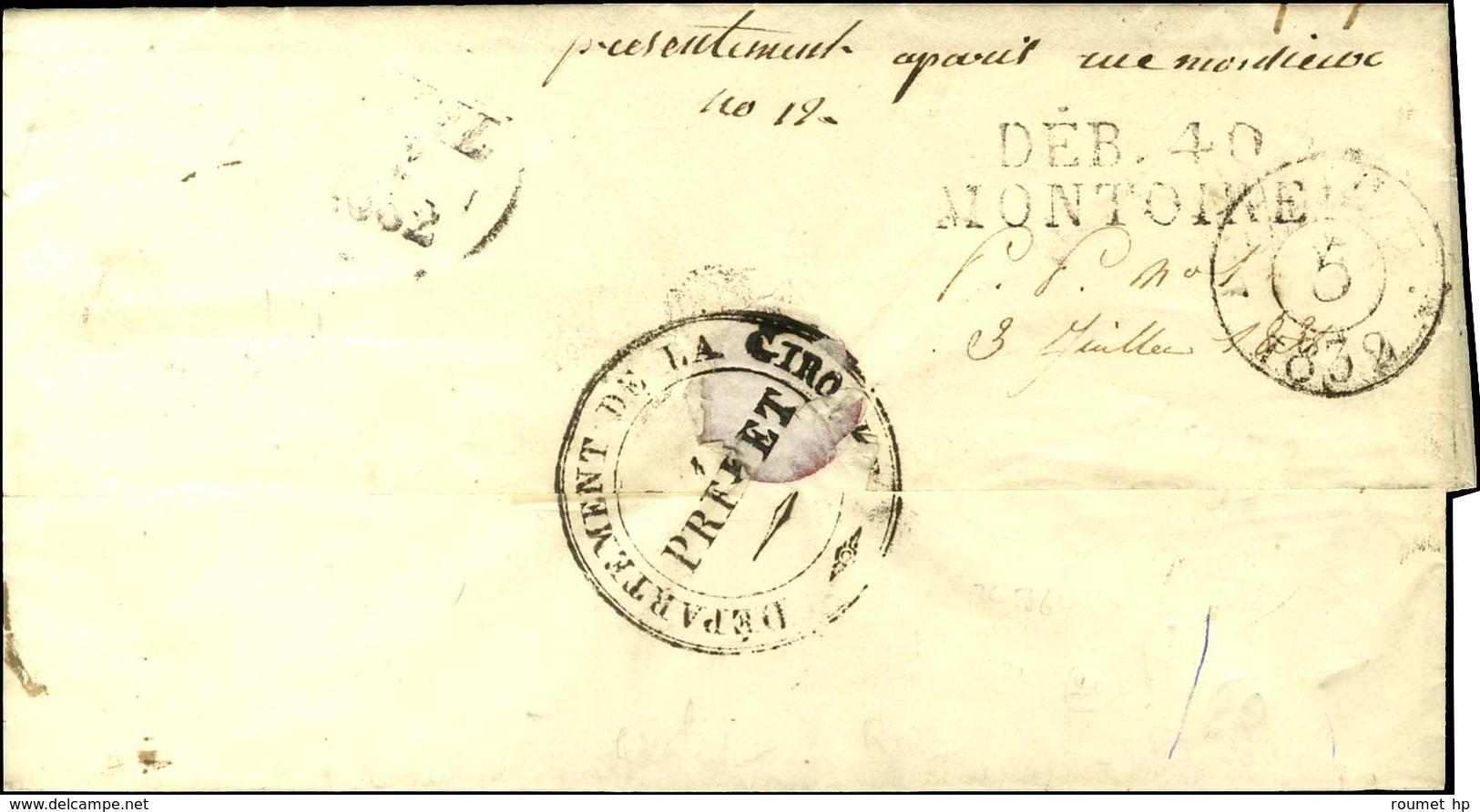 DEB. 40 / MONTOIRE Sur Lettre Avec Texte Daté 1832. - TB / SUP. - R. - Storia Postale