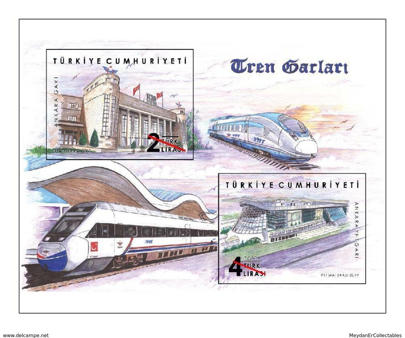 TURKEY/2019 - TRAIN STATIONS, MNH - Nuevos