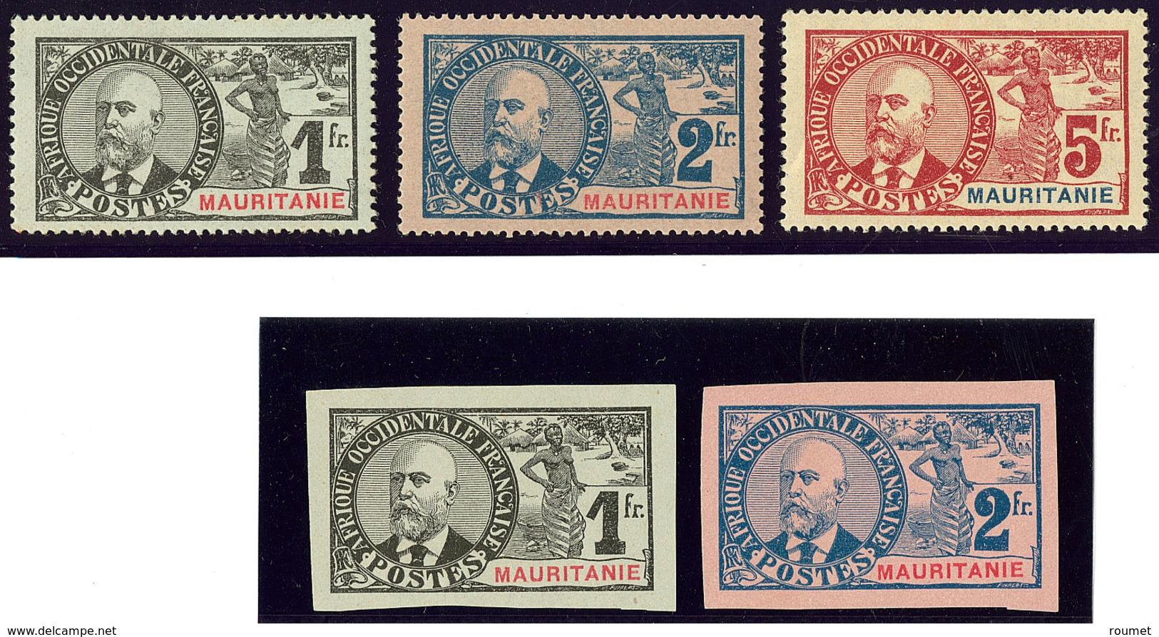 * Palmiers. Nos 14 à 16, 14a Et 15a (*). - TB - Mauritania (1906-1944)