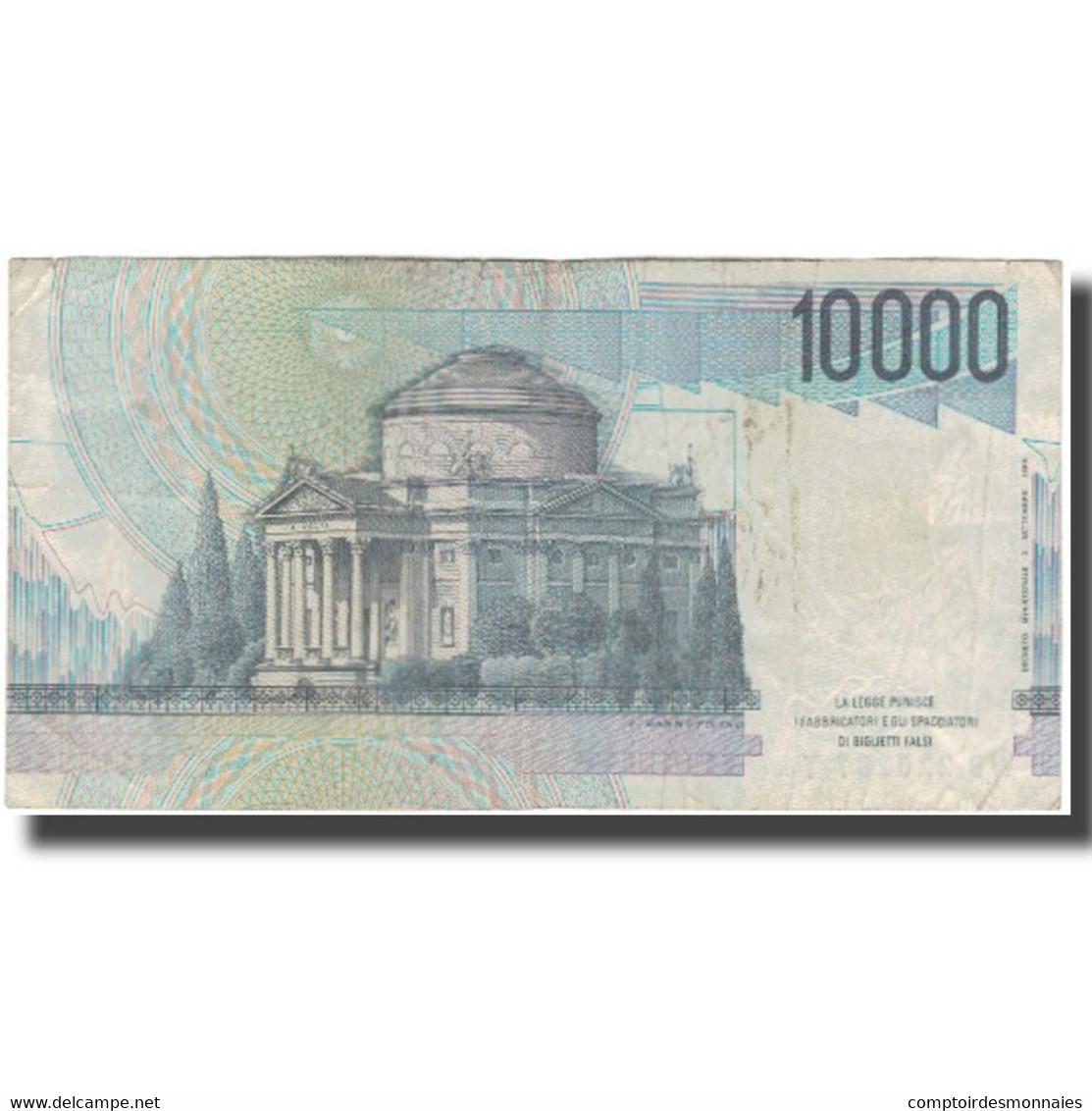 Billet, Italie, 10,000 Lire, KM:112a, TB - [ 2] 1946-… : République