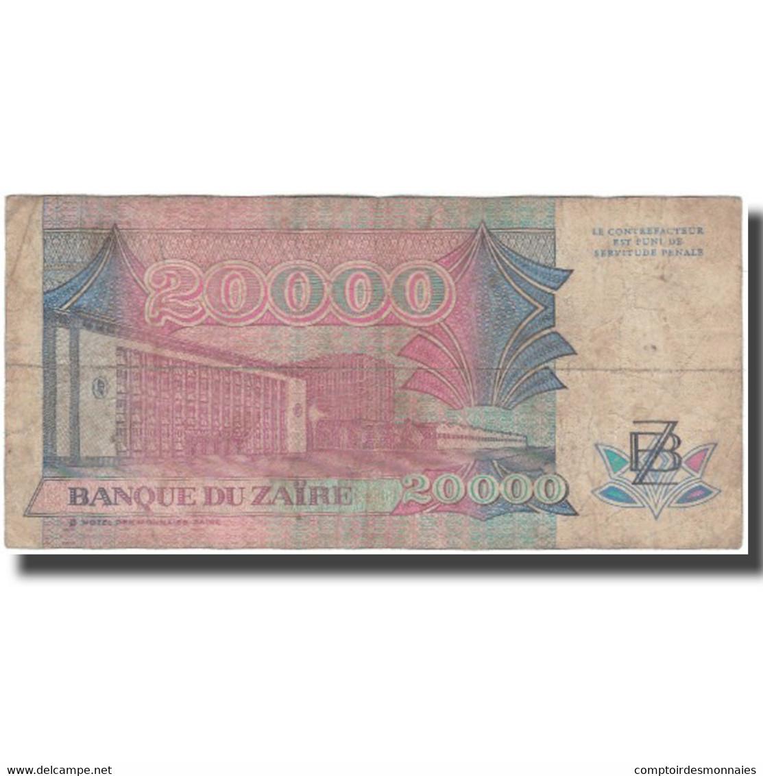 Billet, Zaïre, 20,000 Zaïres, 1991-07-01, KM:39a, TB - Zaïre