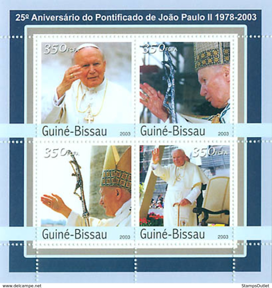 Guinea - Bissau 2003 - 25th Anniversary Of Pope 4v. Y&T 1070-1073, Michel 2049-2051 - Guinea-Bissau