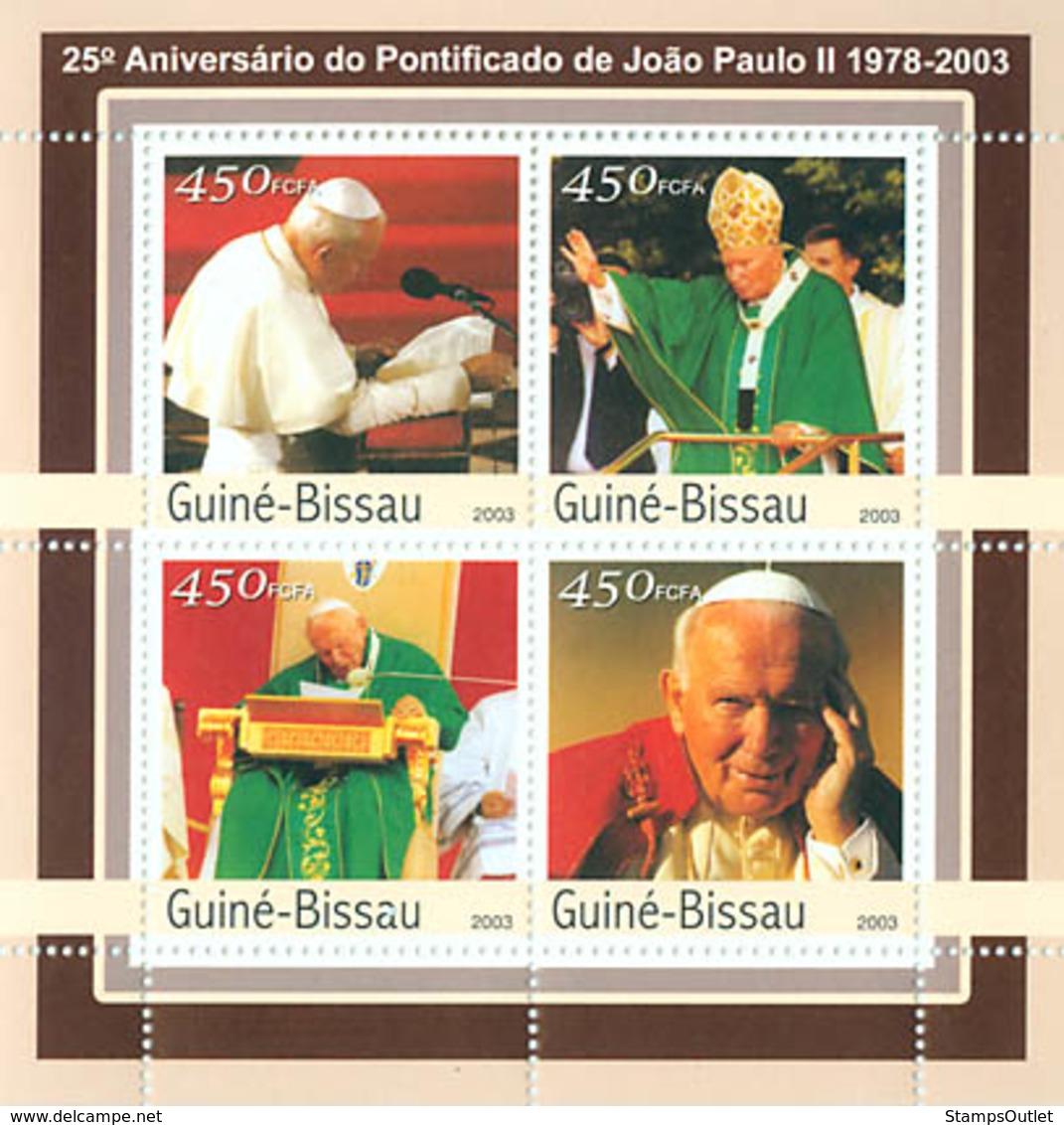 Guinea - Bissau 2003 - 25th Anniversary Of Pope 4v. Y&T 1074-1077, Michel 2052-2056 - Guinea-Bissau