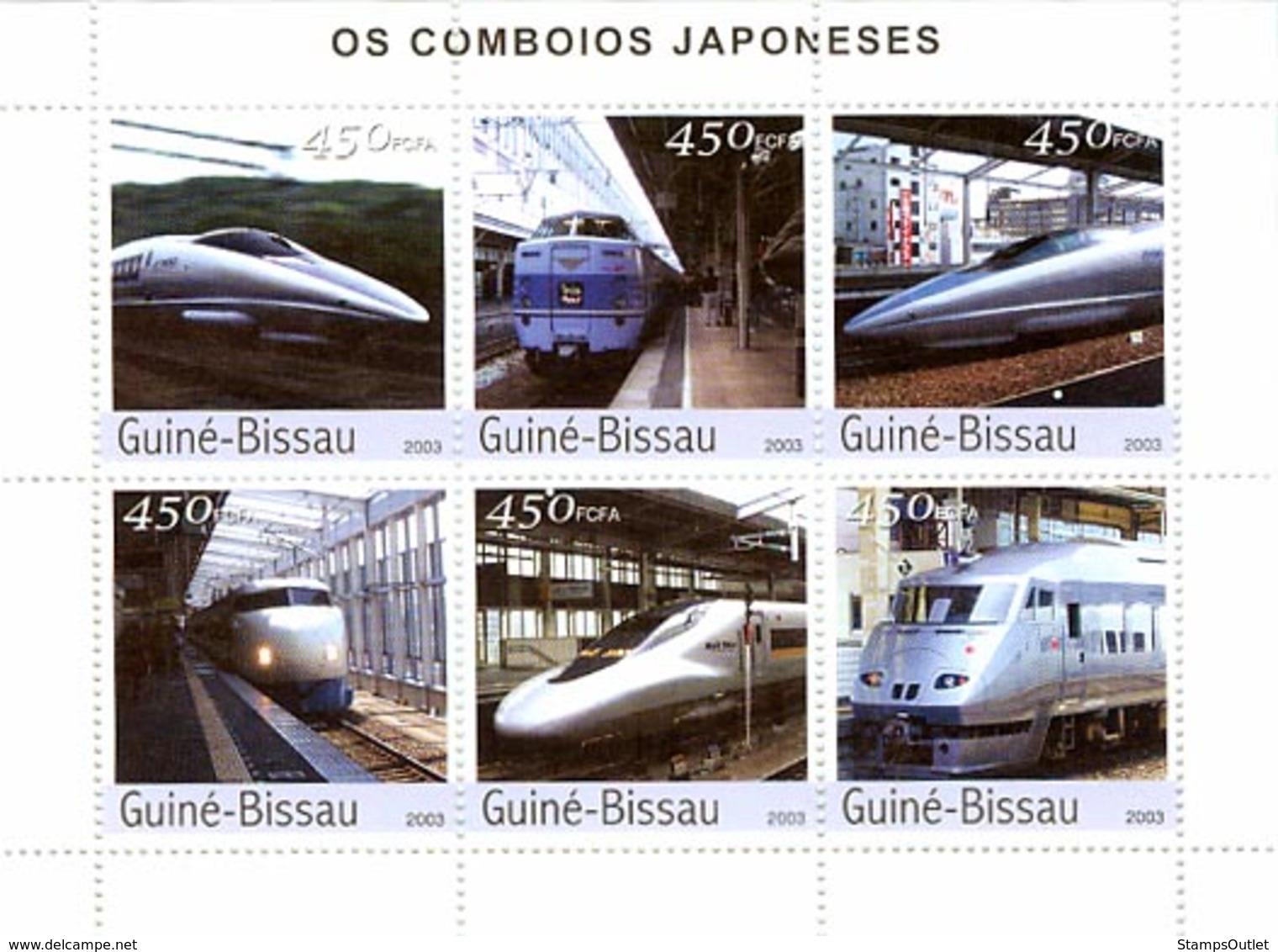 Guinea - Bissau 2003 - Trains Of Japanese 6v. Y&T 1288-1293, Michel 2246-2251 - Guinea-Bissau