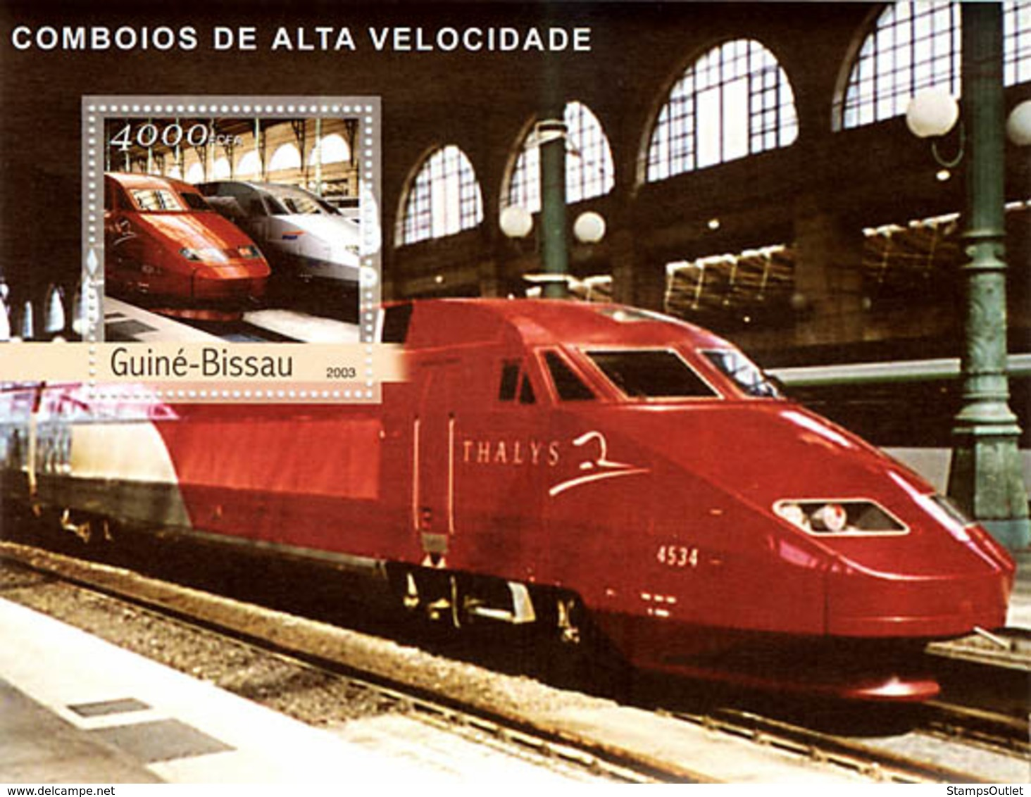 Guinea - Bissau 2003 - Modern Trains S/s. Y&T 179, Michel 2414 BL421. - Guinée-Bissau