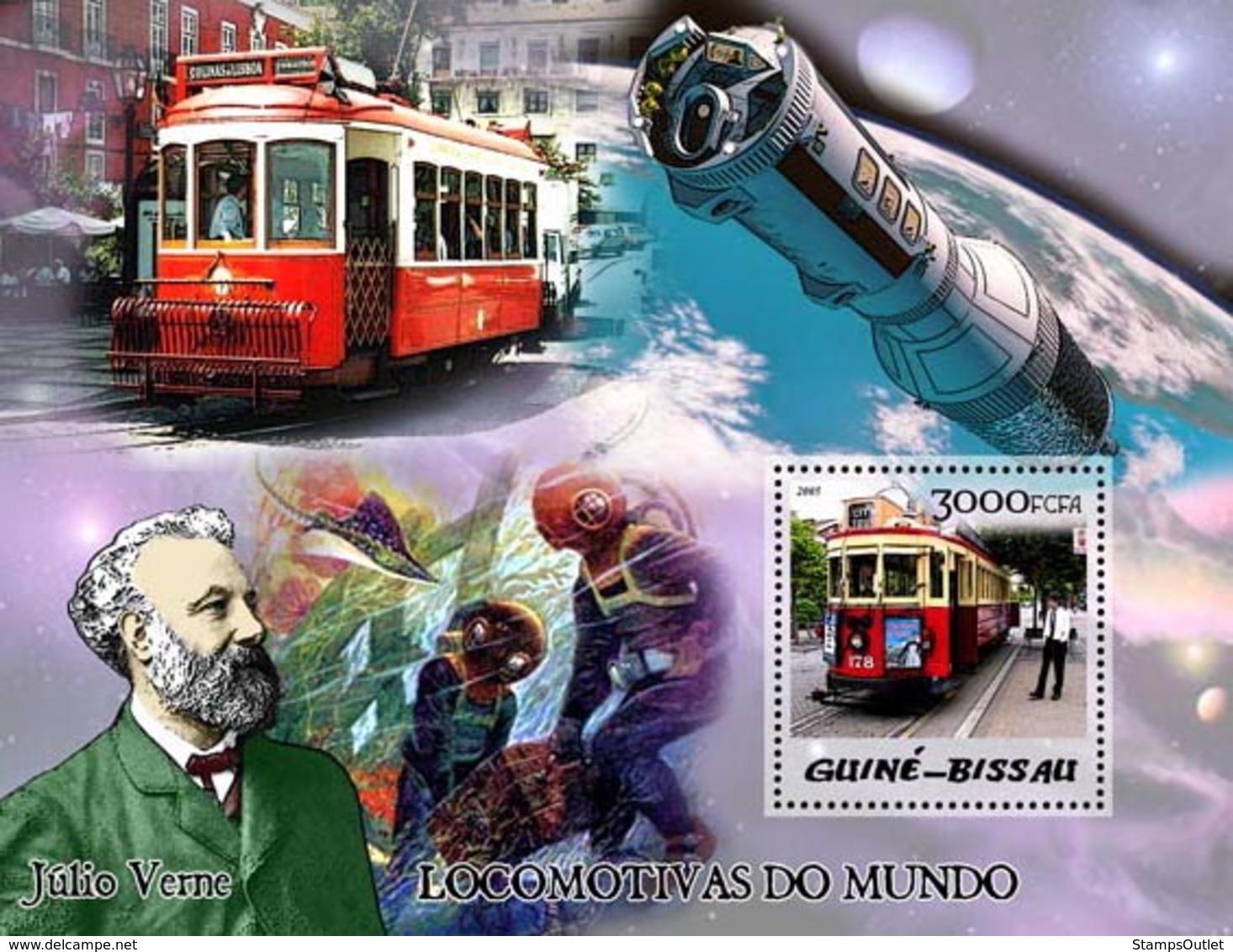 Guinea - Bissau 2005 - Trams & Jules Verne S/s, Y&T 261, Michel 3035/BL506 - Guinea-Bissau