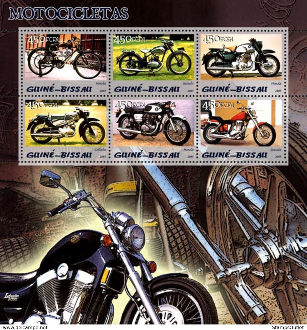 Guinea - Bissau 2005 - Motorcycles 6v, Y&T 1992-197, Michel 3079-3084 - Guinea-Bissau