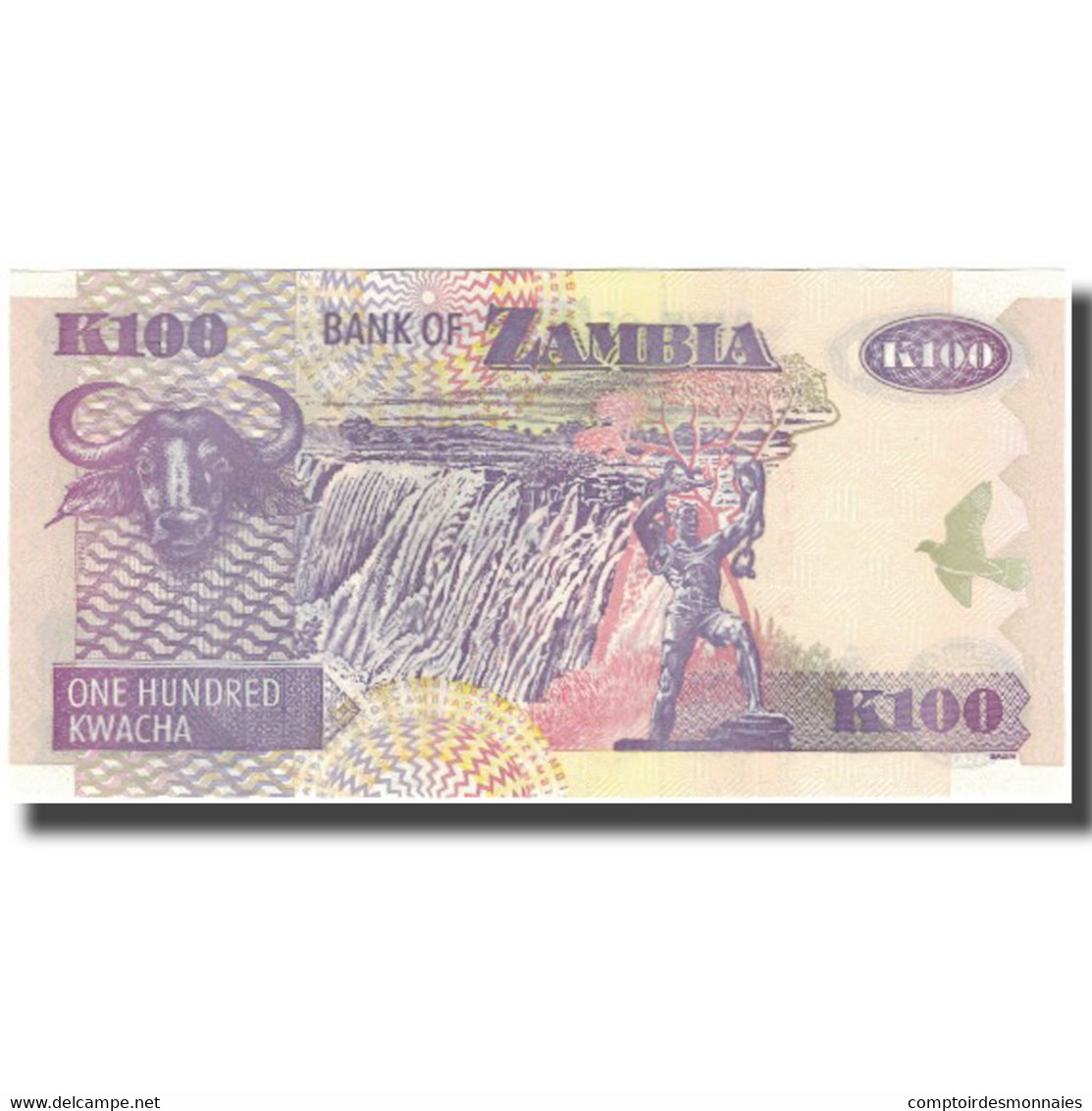 Billet, Zambie, 100 Kwacha, KM:38e, NEUF - Zambia