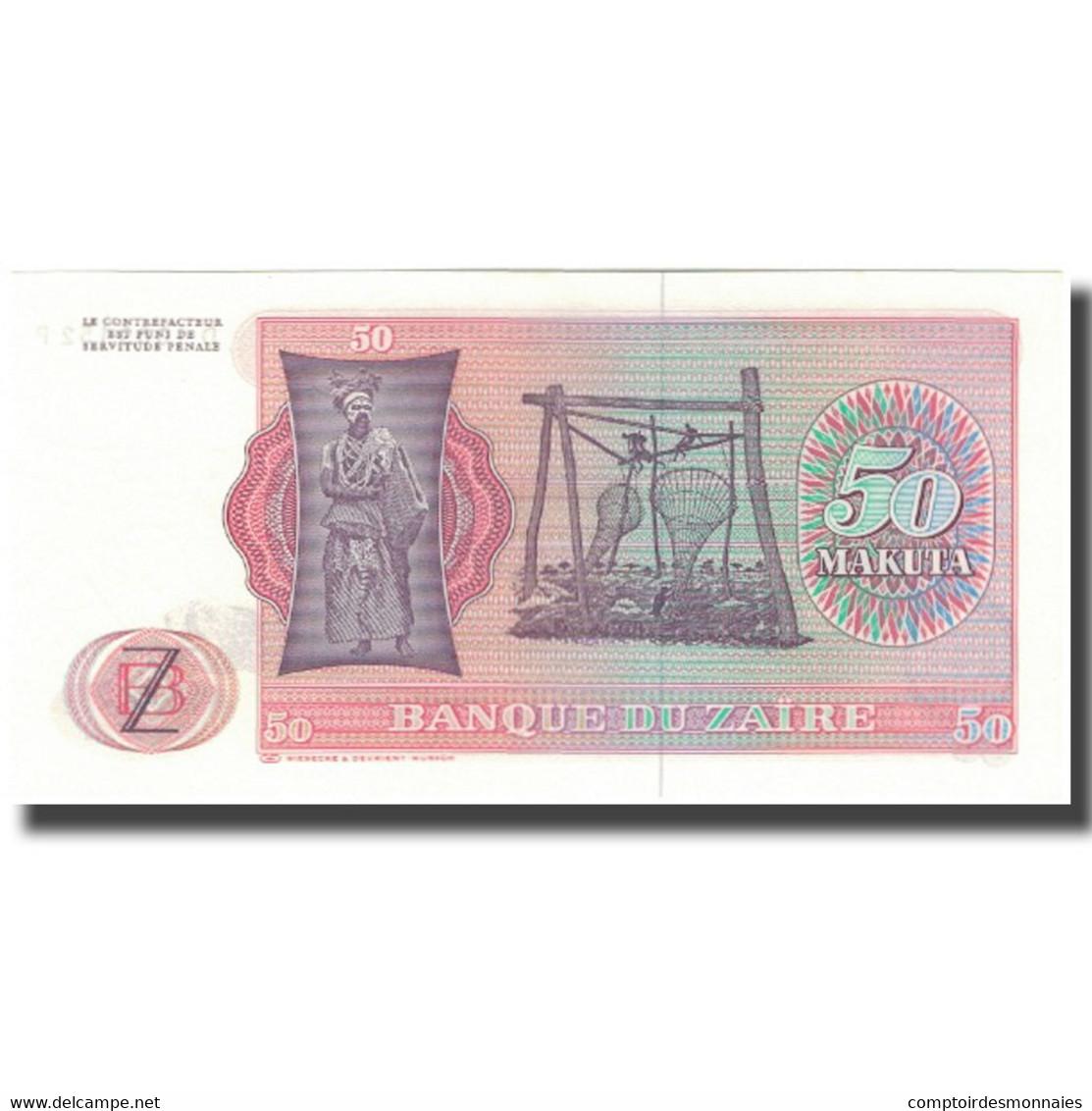 Billet, Zaïre, 50 Makuta, 1978-05-20, KM:16c, NEUF - Zaïre