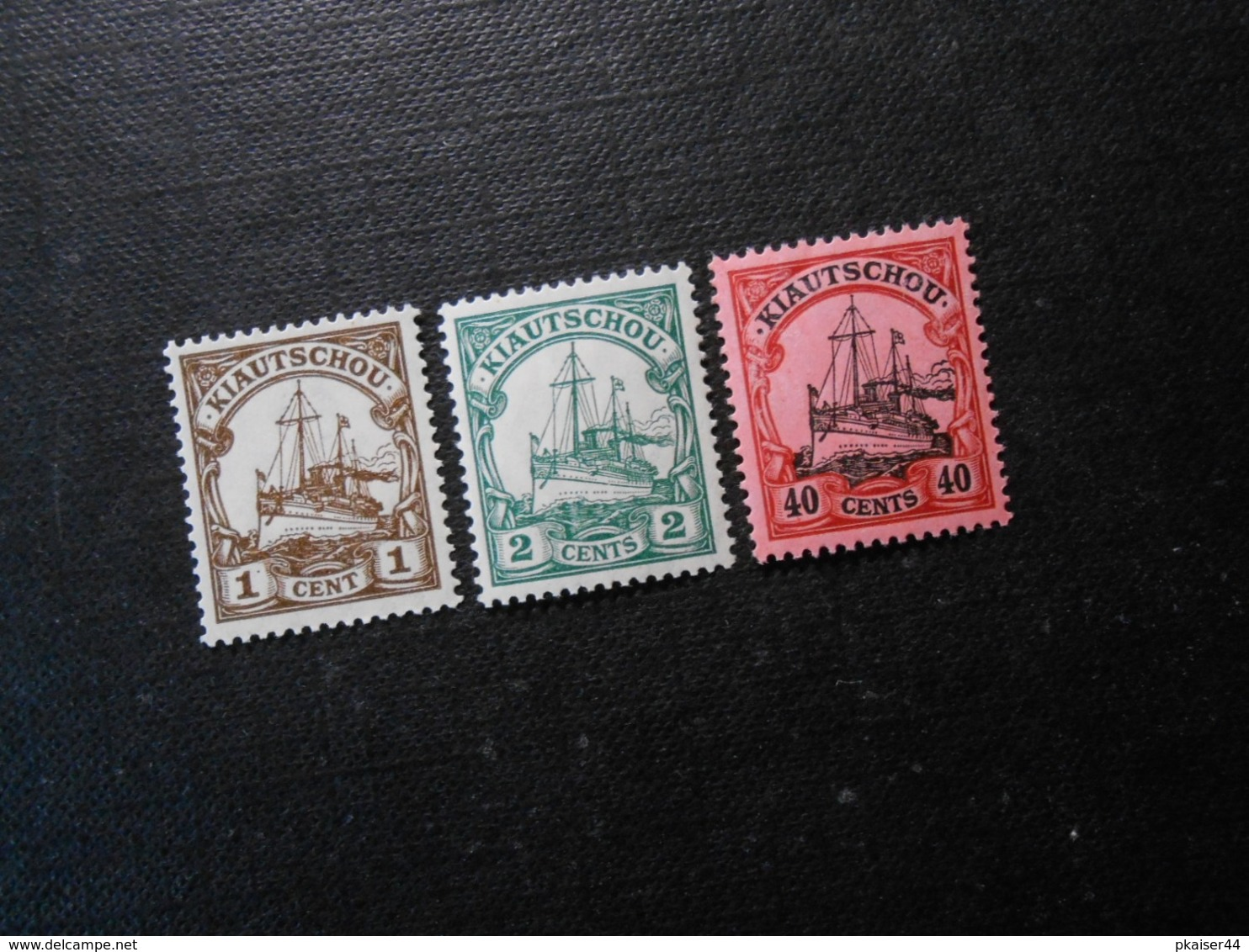 D.R.Mi 28 L/29a/33 - 1/2/40C**MNH  Deutsche Kolonien (Kiautschou) 1905 - Mi 17,40 € - Colony: Kiauchau