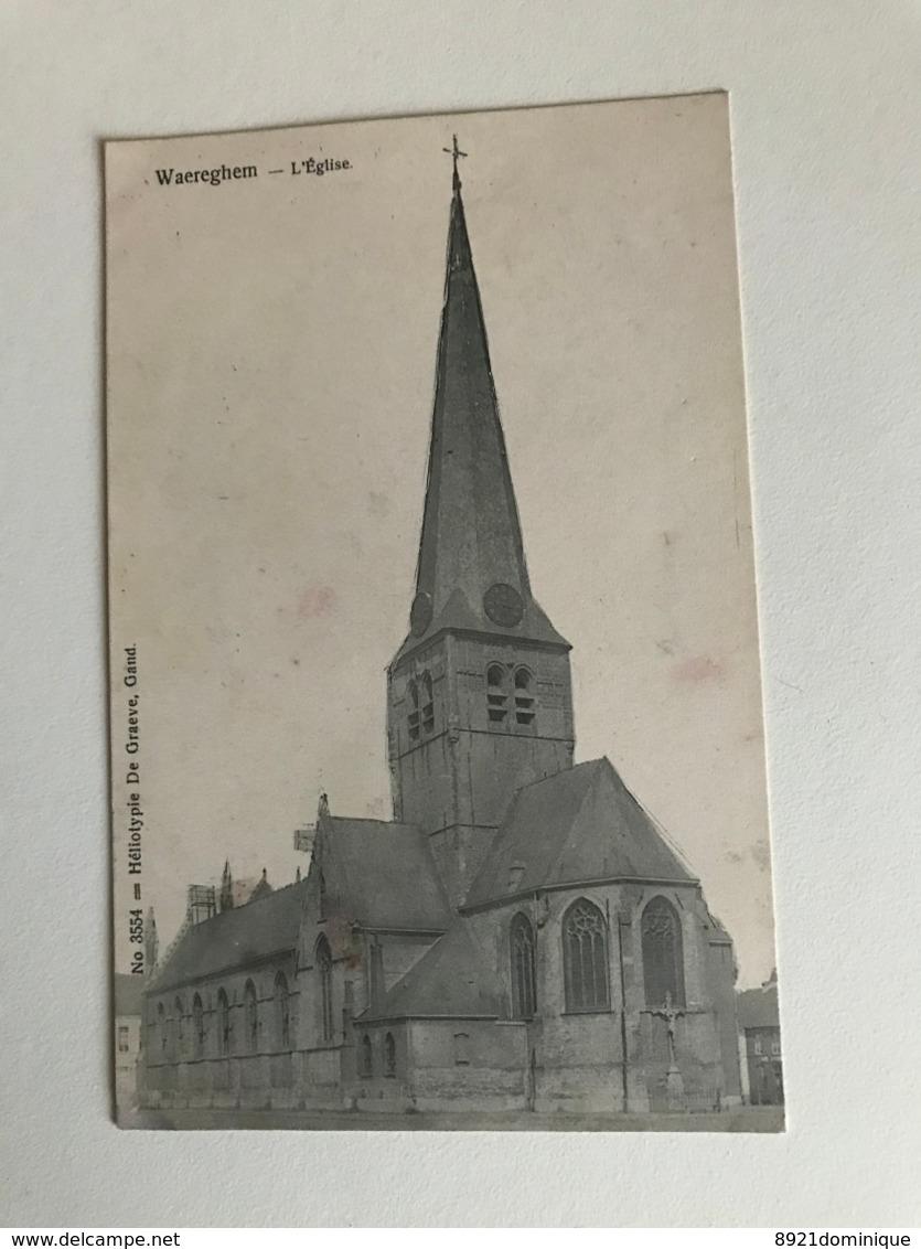 Waregem - Waereghem - L'eglise   -  N° 3554 Heliotypie De Graeve - Waregem