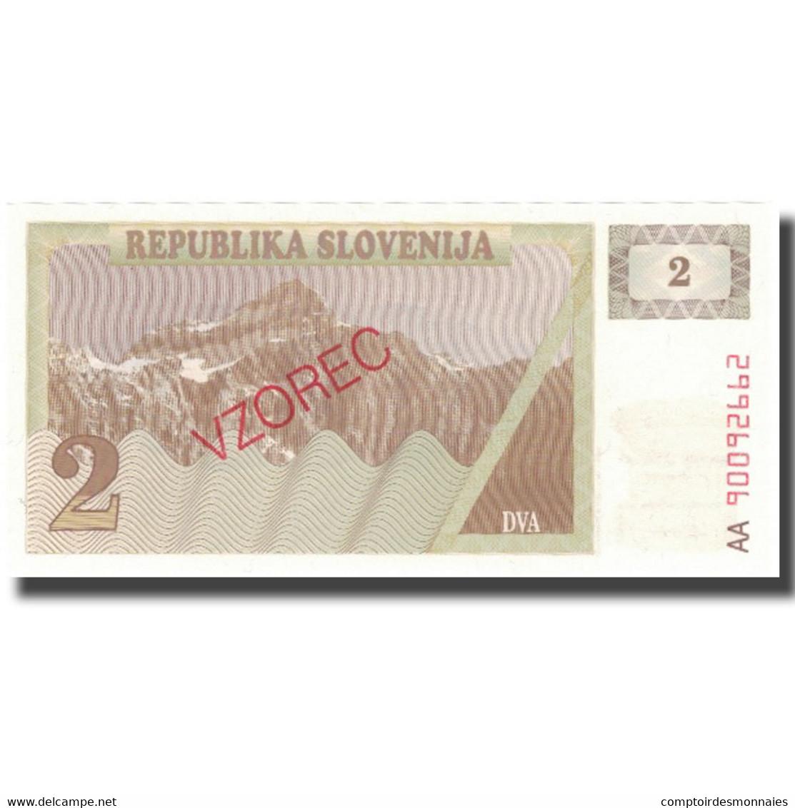 Billet, Slovénie, 2 (Tolarjev), KM:2s1, NEUF - Slovénie