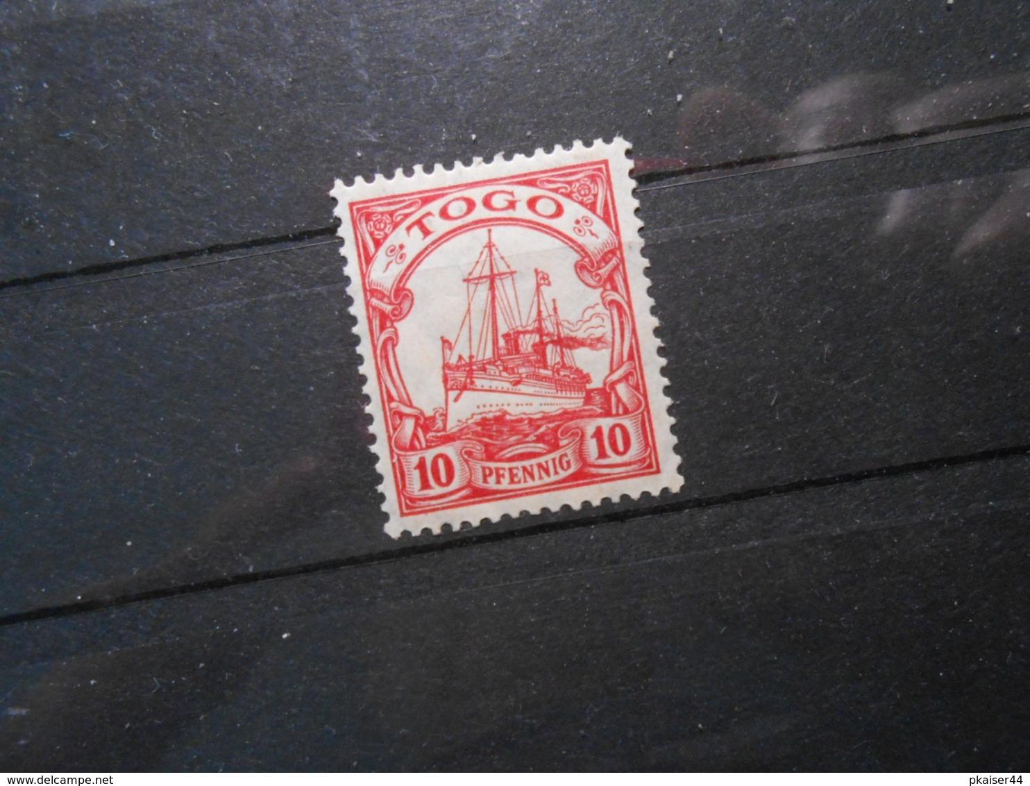 D.R.Mi 22 - 10Pf*MLH - Deutsche Kolonien ( TOGO )  1913 - Mi 2,00 € - Colony: Togo
