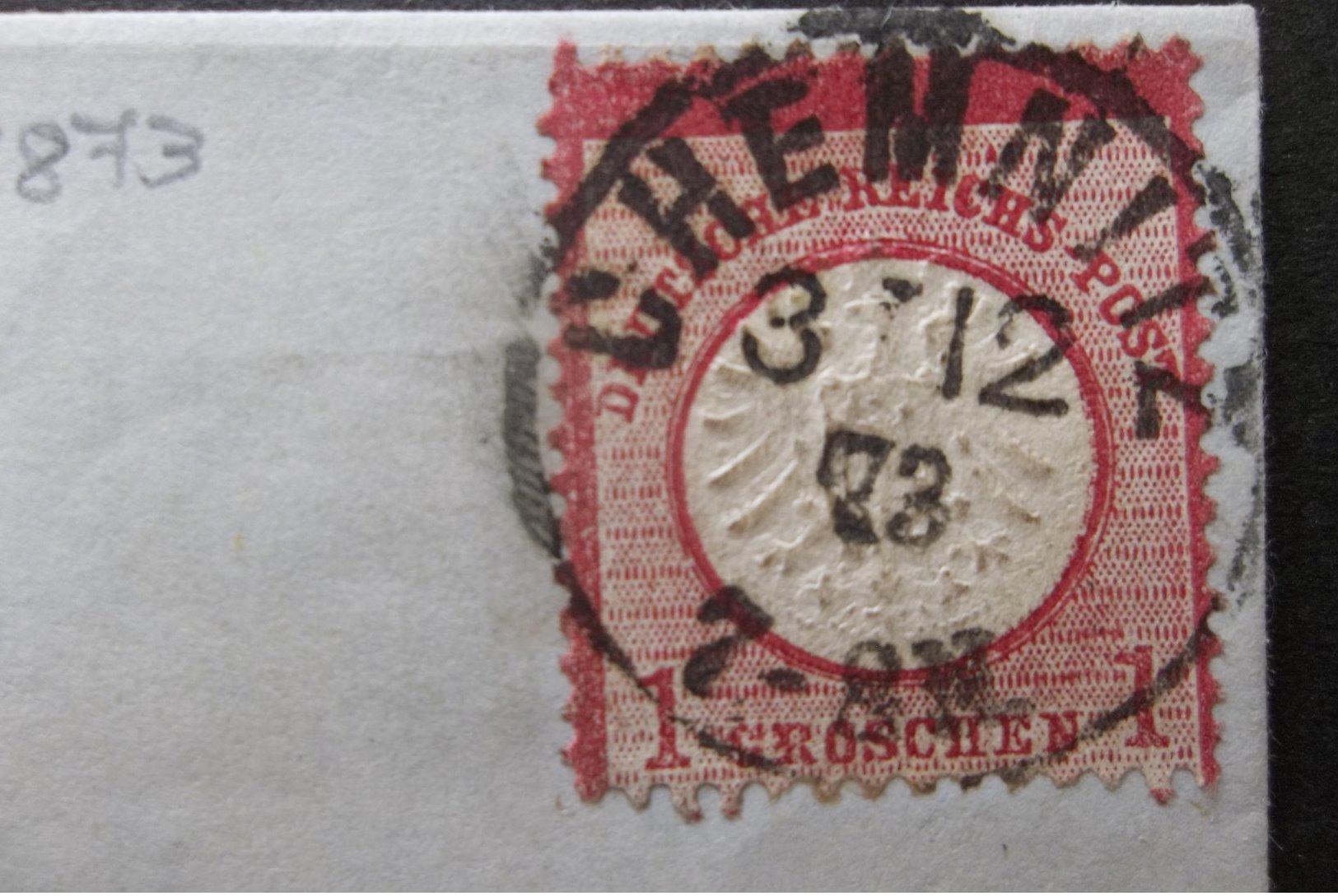 Deutshe Reichs Post: 1873 Folded Letter To (?) (#VS10) - Germany