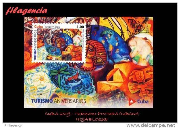 CUBA MINT. 2009-16 TURISMO. PINTURA CUBANA CONTEMPORÁNEA. HOJA BLOQUE - Cuba