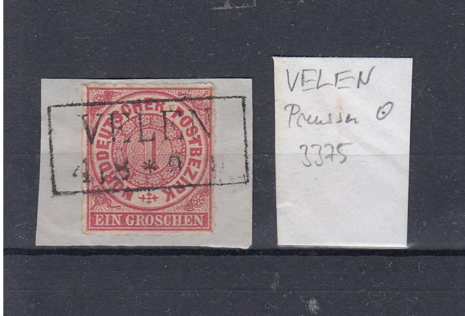 "NDP (XX) Michel Kat.Nr. Stempel Preussen ""Velen"" - North German Conf."