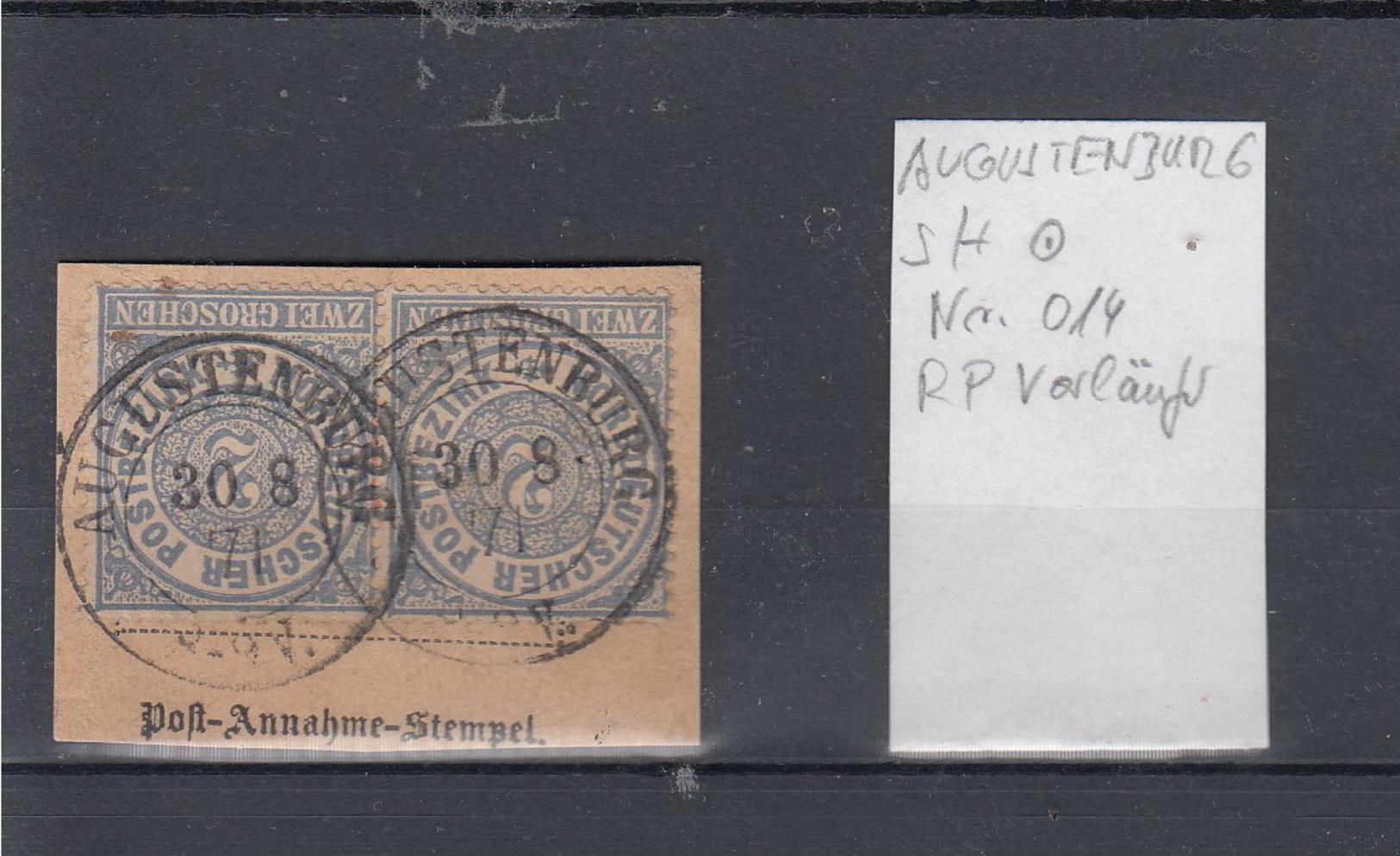 """NDP (XX) Michel Kat.Nr. """"Augustenburg"""" Reichspost Vorläufer Schleswig Holstein - Norddeutscher Postbezirk"""
