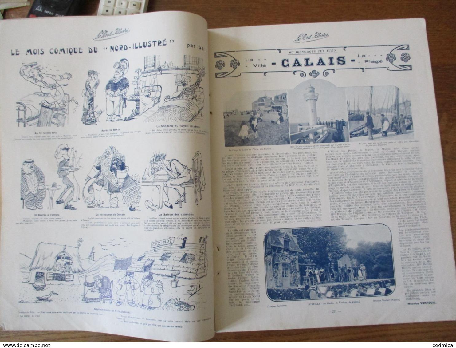 LE NORD ILLUSTRE DU 1er AOUT 1912 LA GREVE DES INSCRITS ET DOCKERS A DUNKERQUE,CALAIS,ACTUALITES DE LA QUINZAINE - Picardie - Nord-Pas-de-Calais