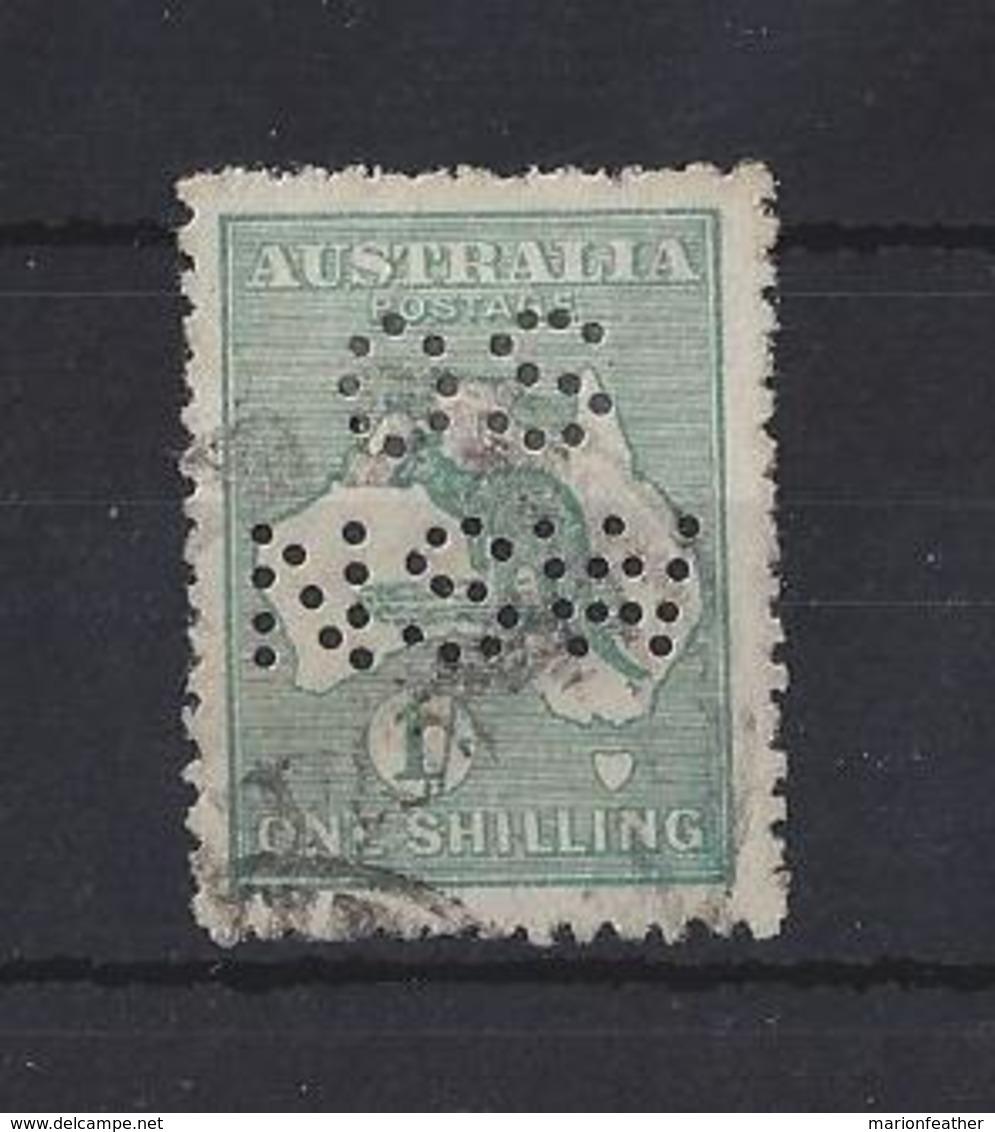 """AUSTRALIA.."""" NEW SOUTH WALES.""""....KING GEORGE V.(1910-36).."""" ROO.""""  OFFICIAL....NARROW WATERMARK...USED. - Service"""