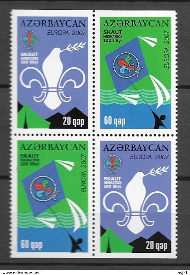 2007 MNH Azerbeijan From Booklet  Postfris** - Europa-CEPT