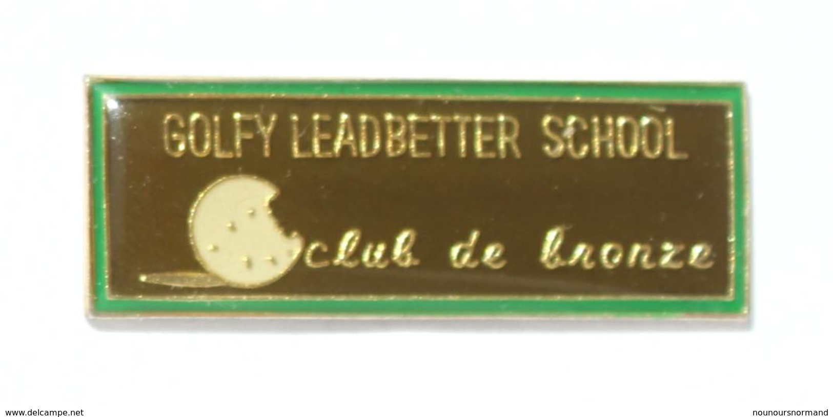 Pin's GOLFY LEADBETTER SCHOOL - Club De Bronze - Balle De Golf - I624 - Golf