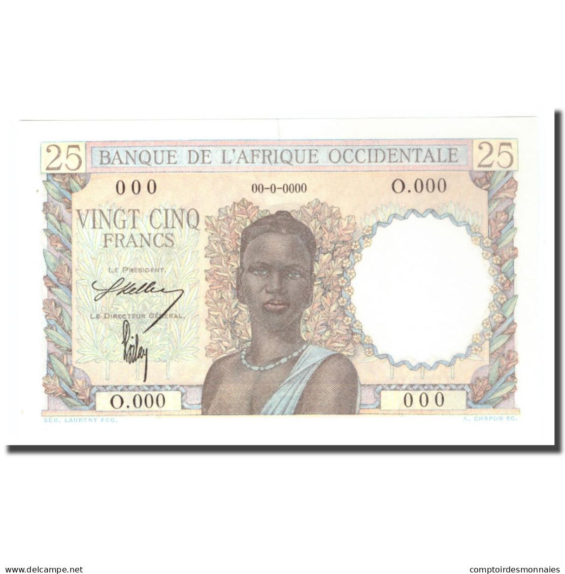 Billet, West African States, 25 Francs, 0000-00-00, Specimen, KM:38s, SPL+ - Specimen