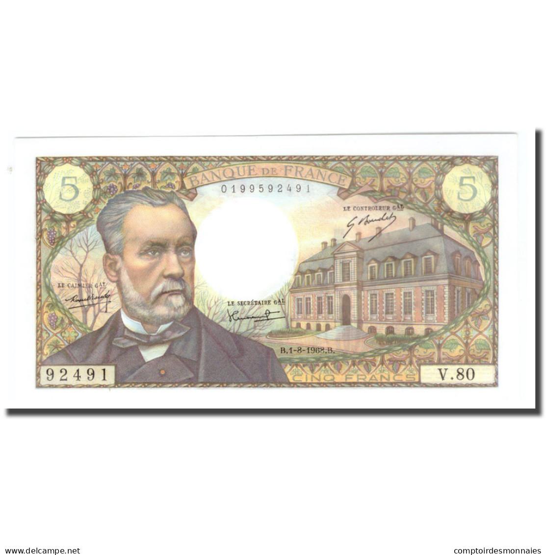 France, 5 Francs, 1968, 1968-08-01, SPL, KM:146b - 5 F 1966-1970 ''Pasteur''