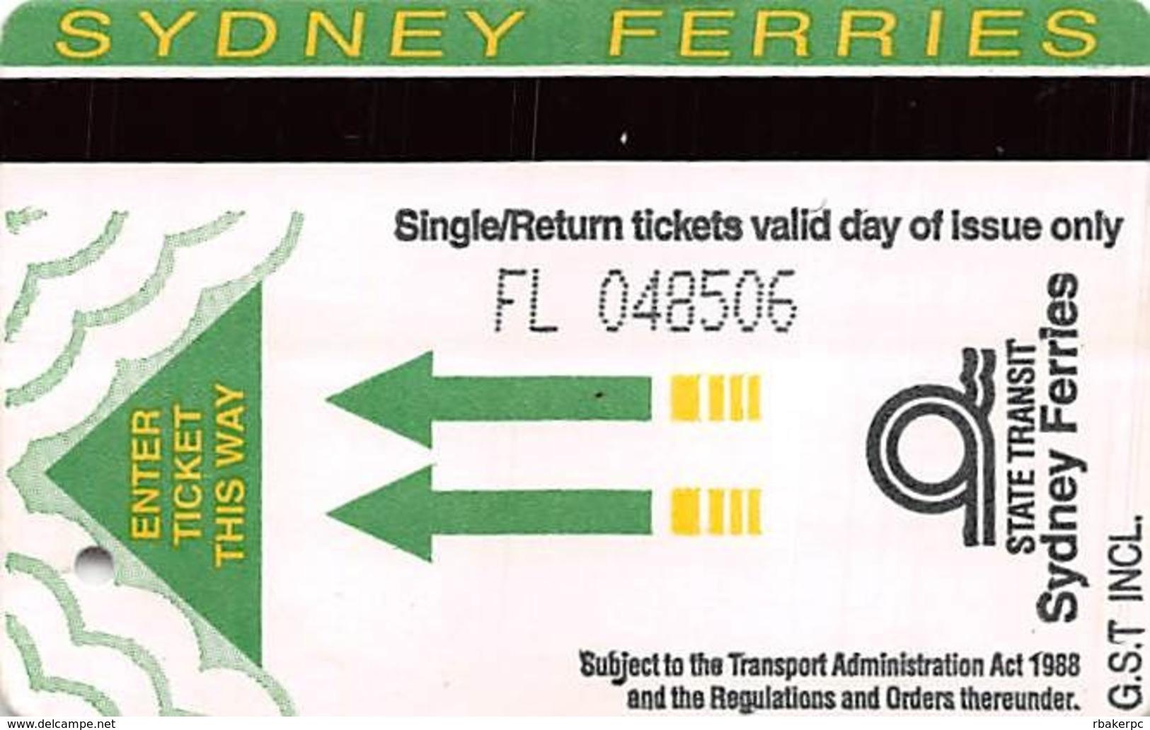 Sydney Ferries Single/Return Ticket - Tickets - Vouchers