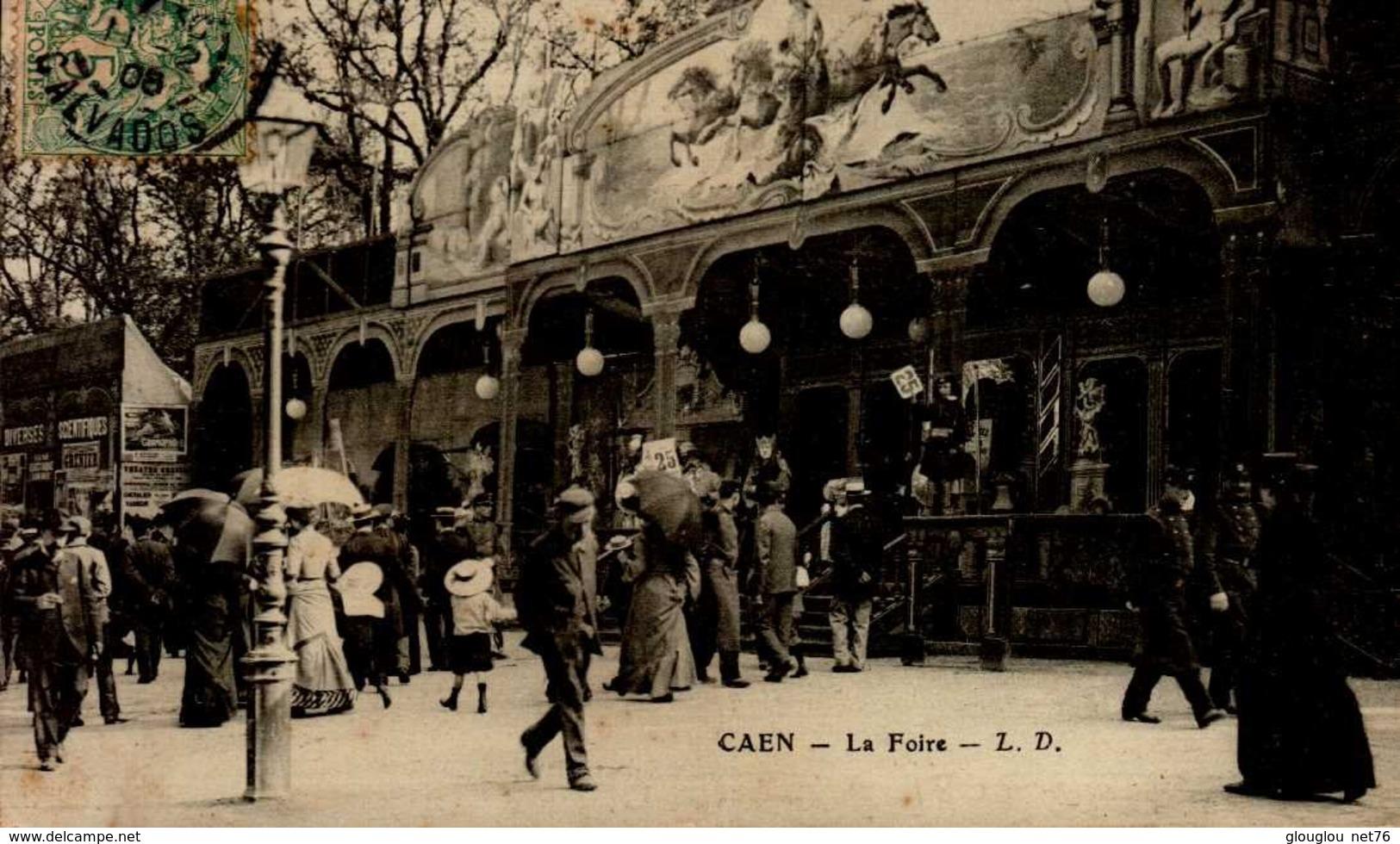 14-CAEN...LA FOIRE  ..CPA ANIMEE - Caen